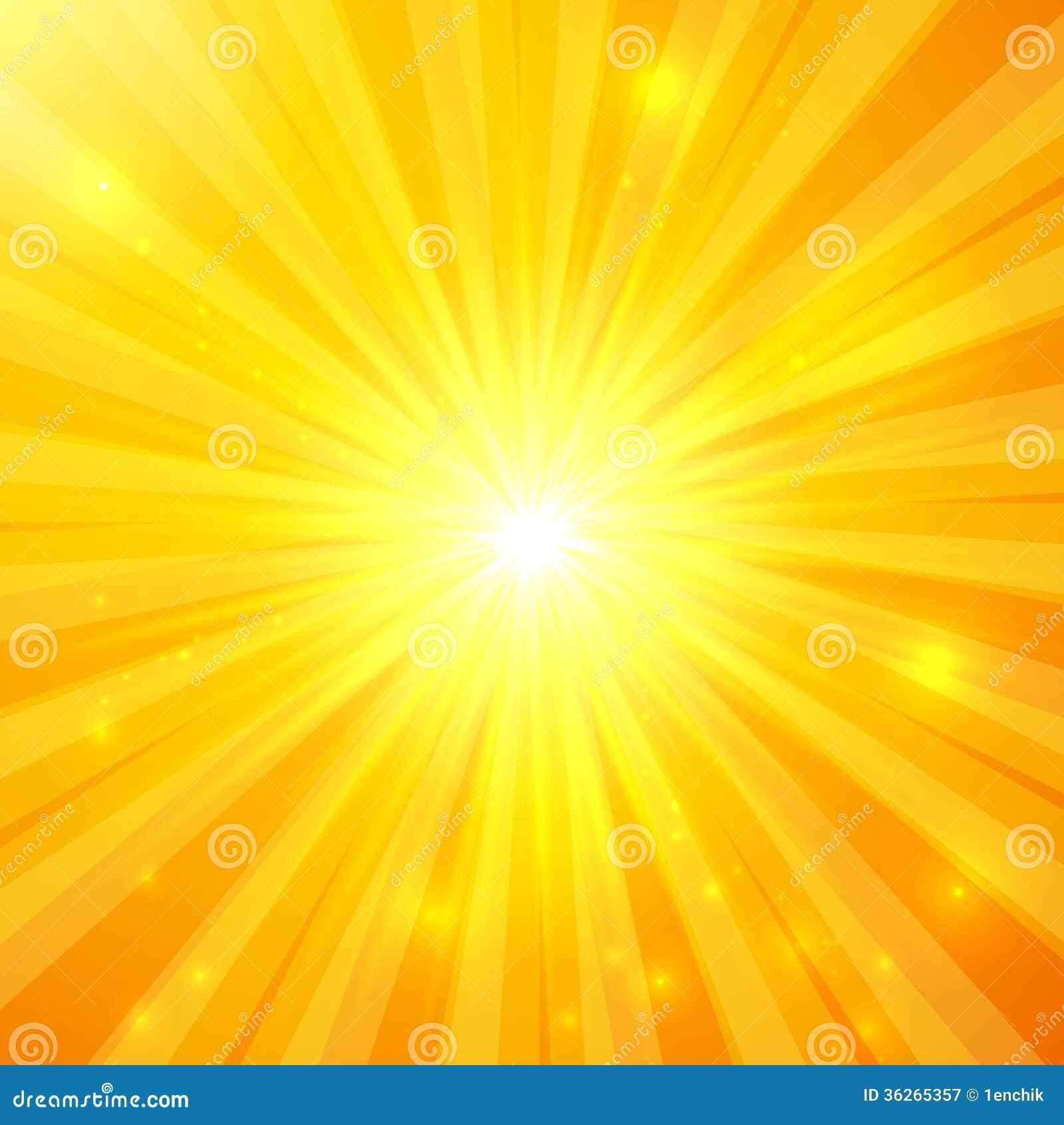 Fondo soleado del vector amarillo abstracto