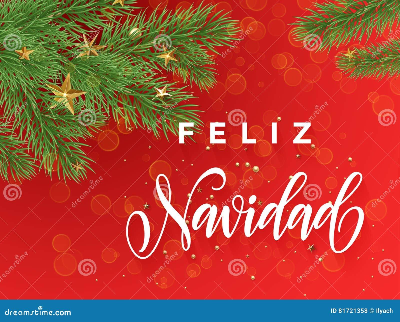 Buon Natale In Spagnolo.Fondo Spagnolo Di Rosso Della Decorazione Della Cartolina D Auguri Di Feliz Navidad Di Buon Natale Illustrazione Di Stock Illustrazione Di Dicembre Festive 81721358