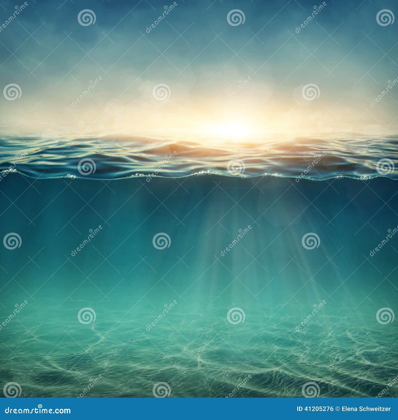 Fondo subacuático abstracto