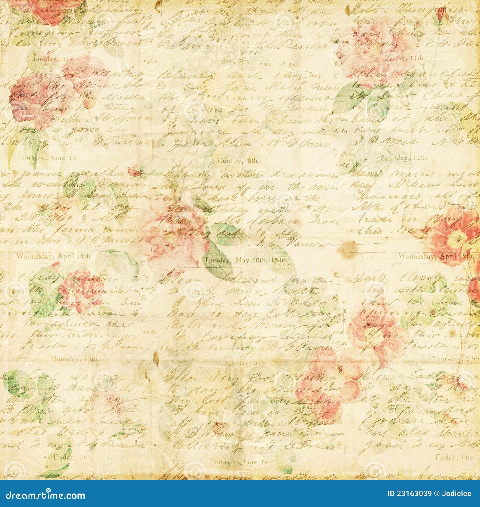 Fondo sucio floral de la rosa elegante lamentable de la vendimia