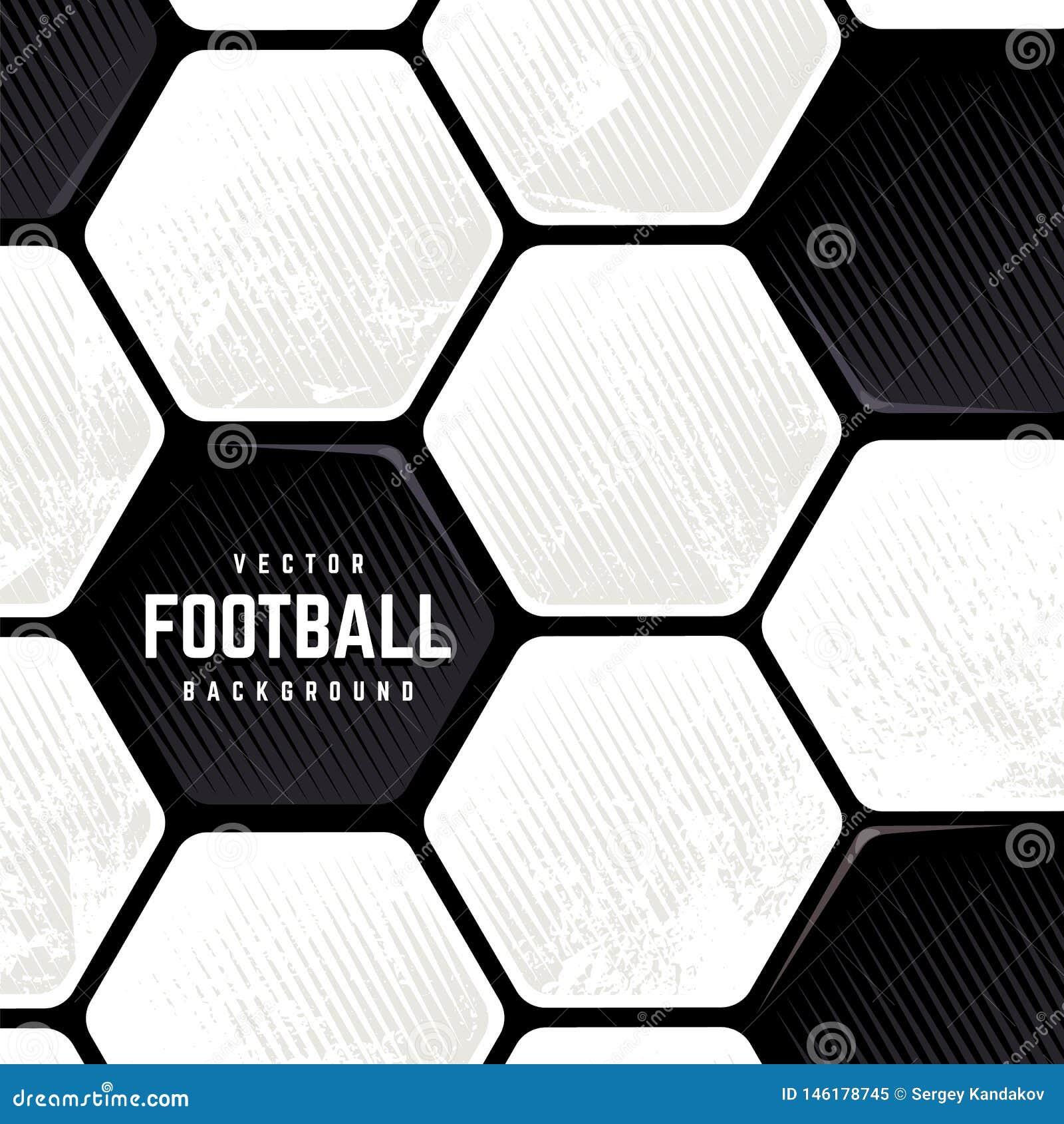 Fondo superficial del balón de fútbol del Grunge