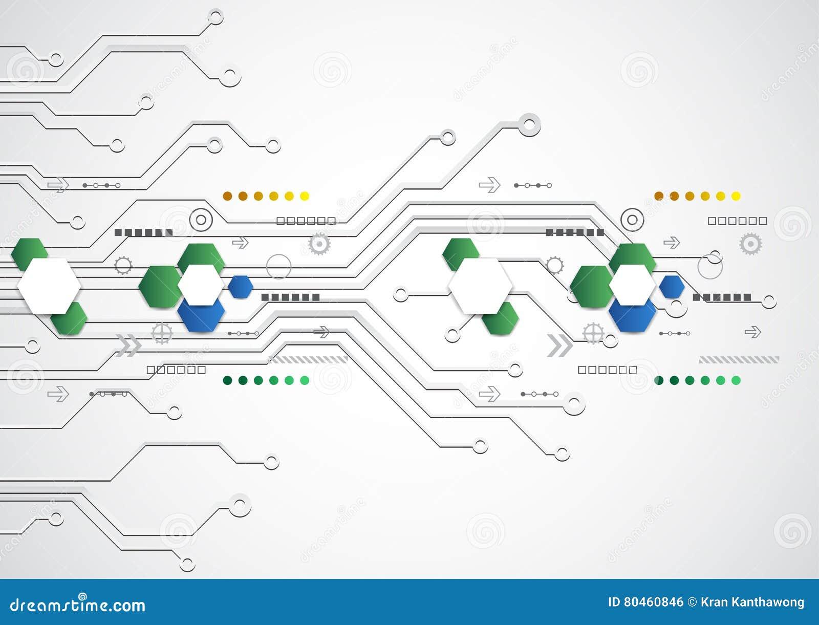 Fondo tecnológico futurista abstracto con los diversos elementos tecnológicos, vector