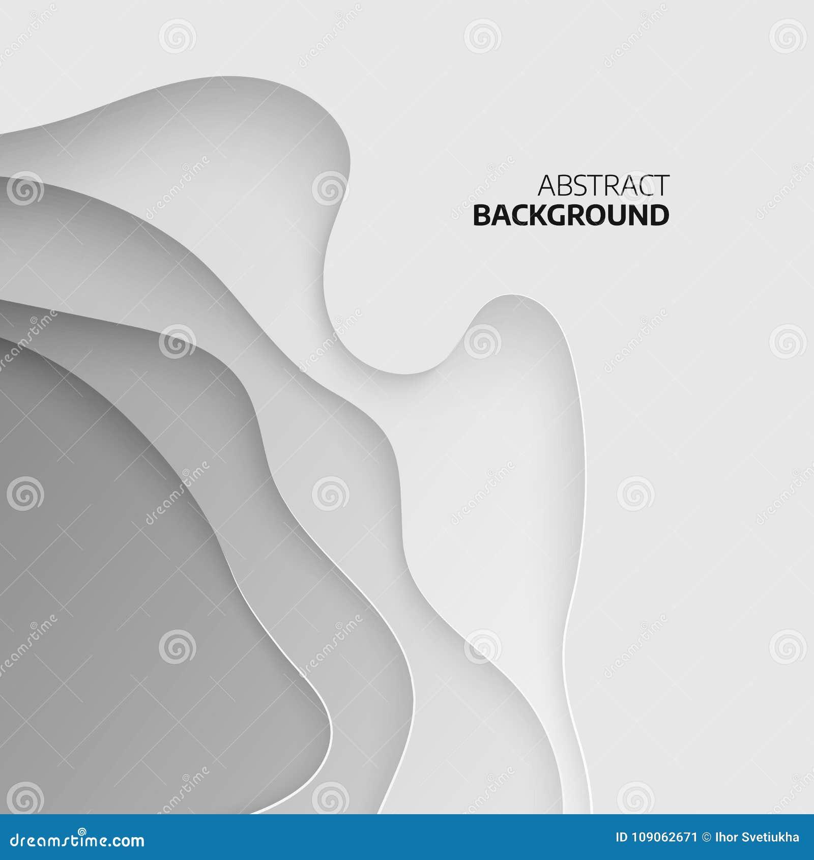 Fondo topografico astratto strati del papercut 3D La carta astratta ha tagliato la progettazione del fondo di arte per il modello