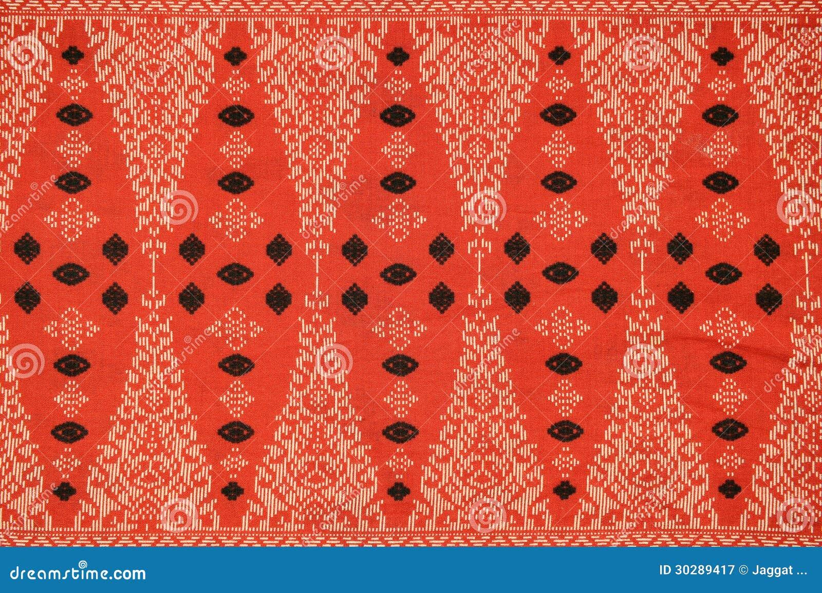 Modello tradizionale del Sarong del batik