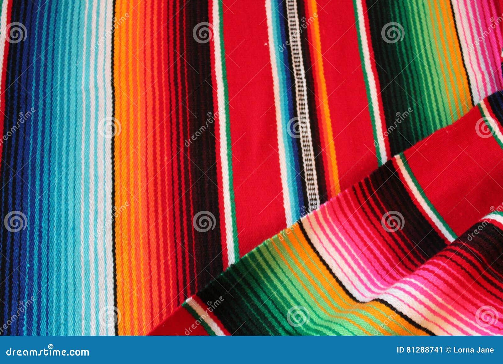 Fondo tradizionale messicano di festa del poncio della for Planimetrie della coperta