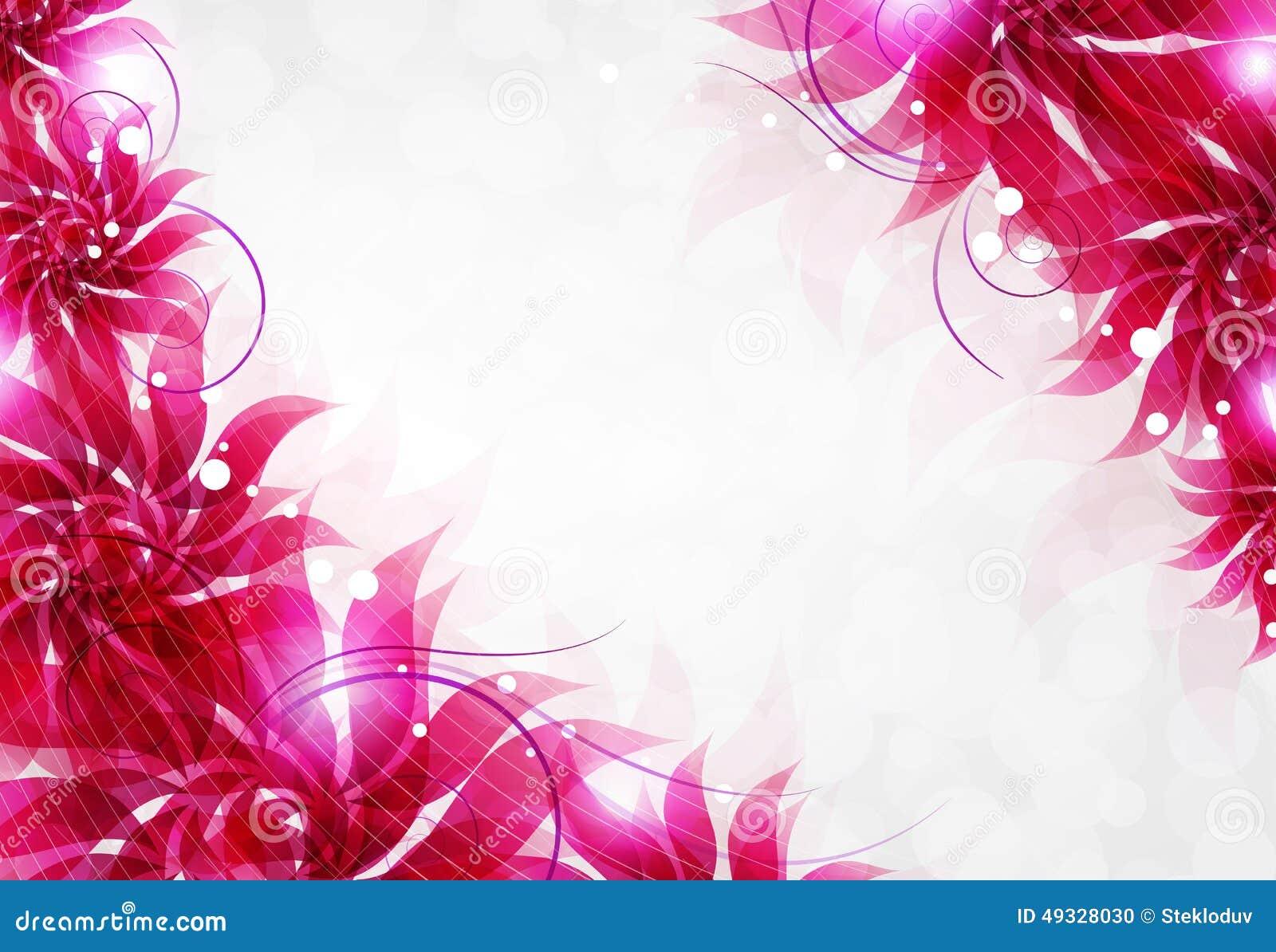 Flores Vectoriales Con Fondo Transparente: Fondo Transparente De Las Flores Ilustración Del Vector