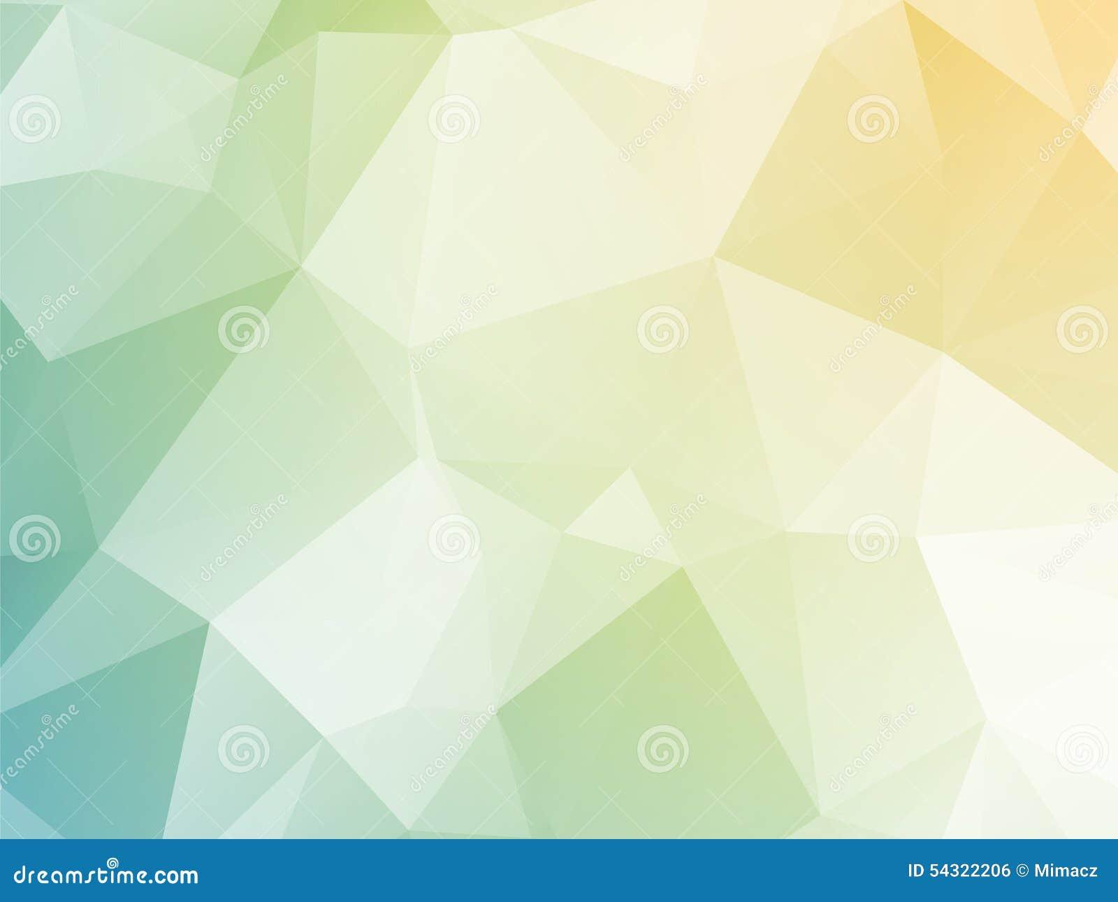 Fondo triangolare giallo pastello luminoso di verde blu