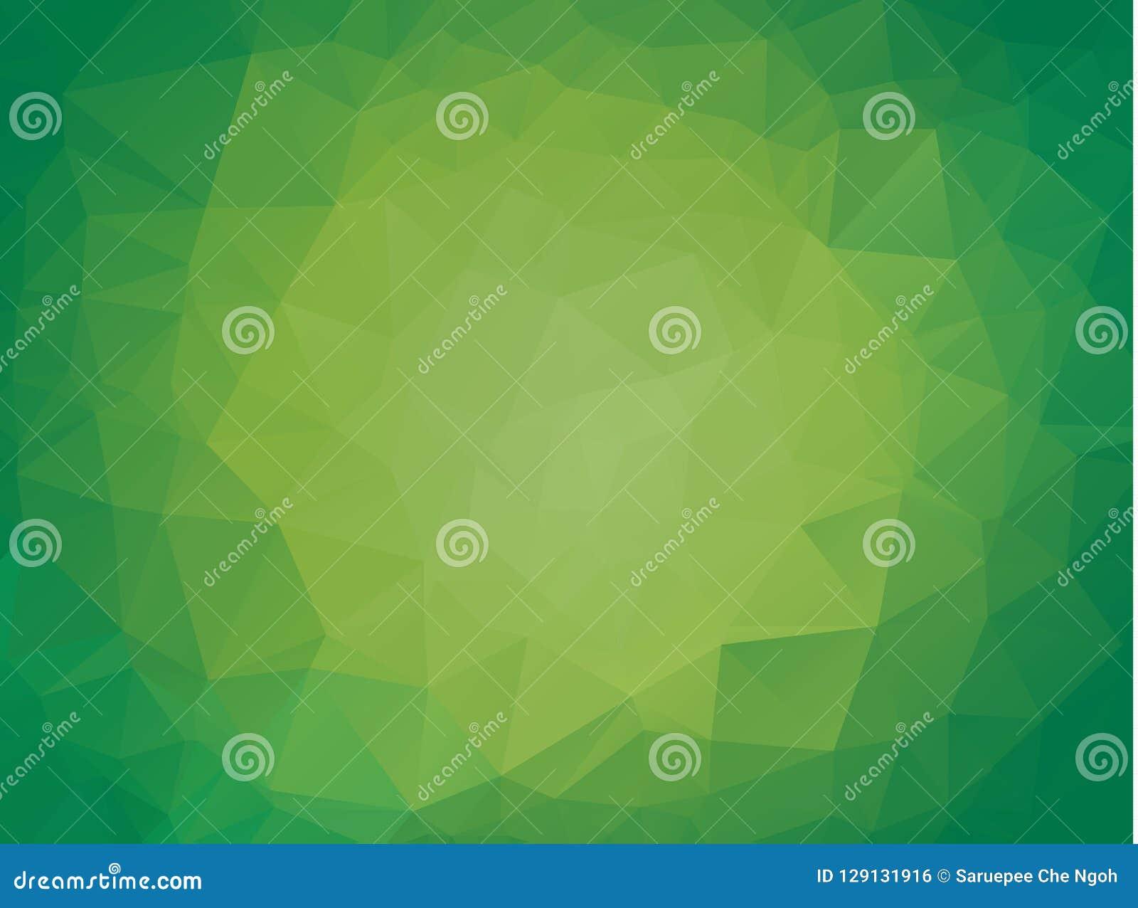Fondo triangular brillante verde claro abstracto Una muestra con formas poligonales El modelo texturizado se puede utilizar para
