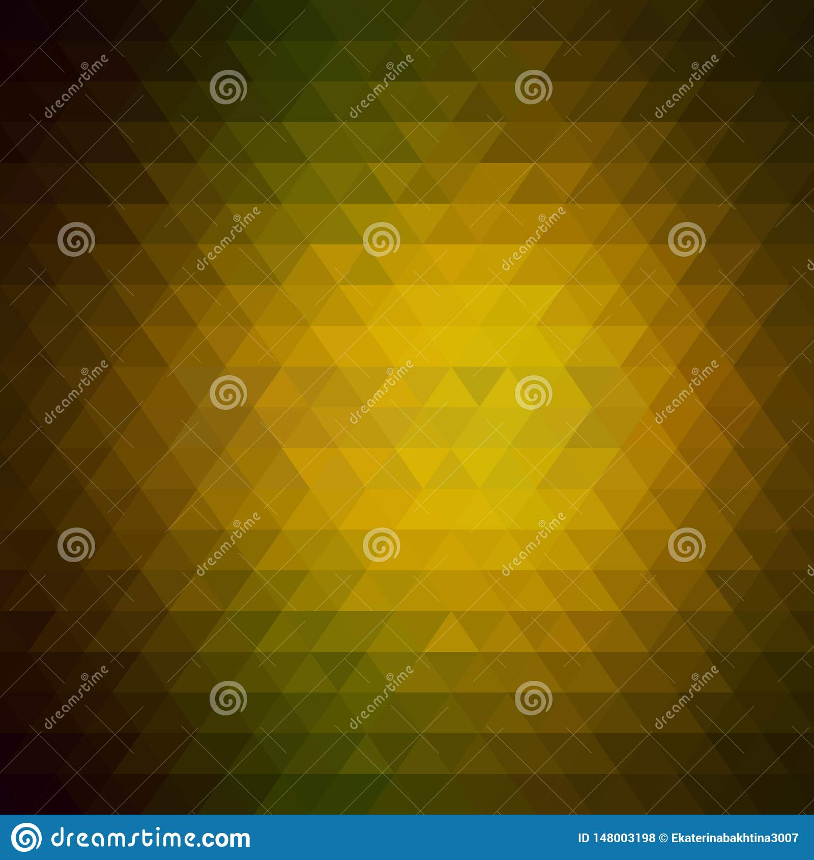 Fondo triangular color marrón de oro Estilo poligonal EPS 10