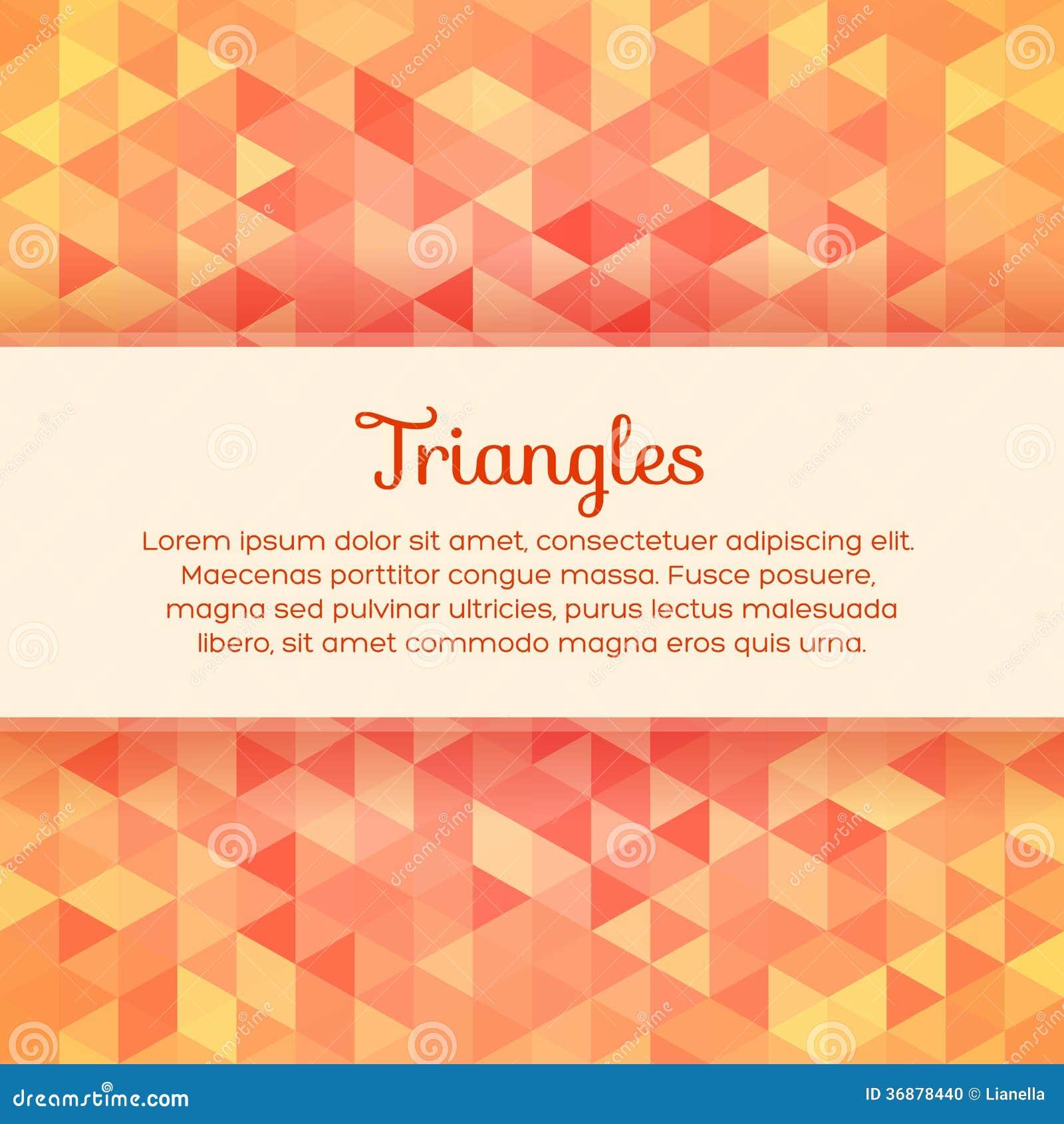 Download Fondo Variopinto Astratto Con I Triangoli Illustrazione Vettoriale - Illustrazione di mosaico, dinamico: 36878440