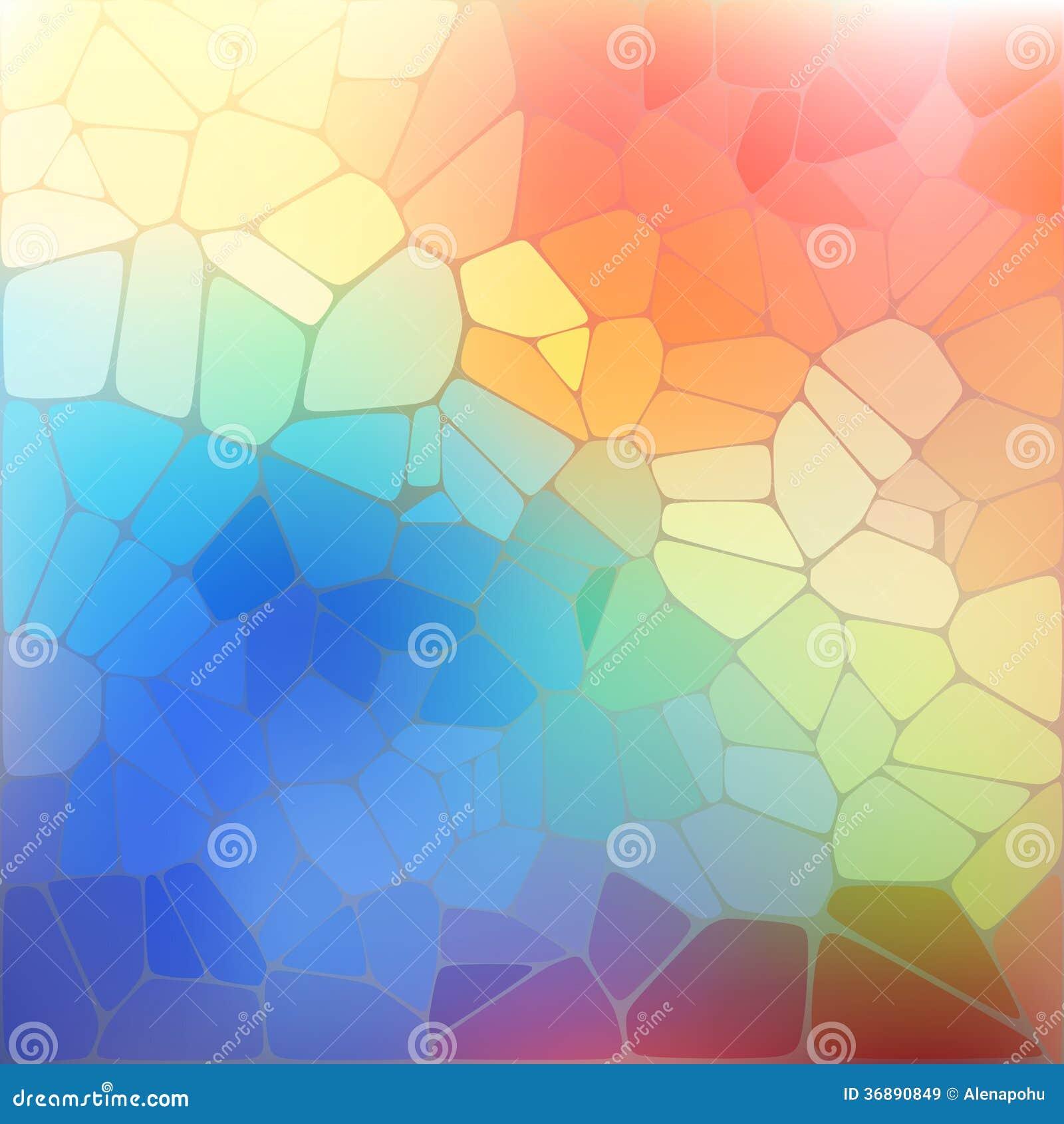 Download Fondo Variopinto Con Il Mosaico Geometrico Dell'arcobaleno Illustrazione Vettoriale - Illustrazione di elemento, disegno: 36890849