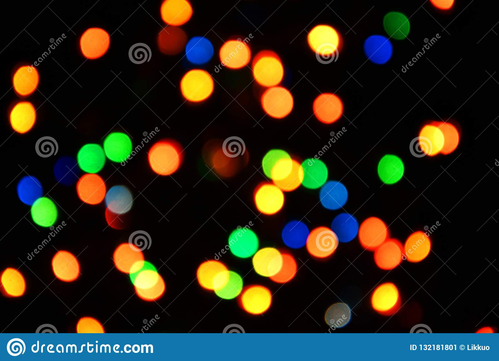 Fondo variopinto del bokeh delle luci, Chrismas