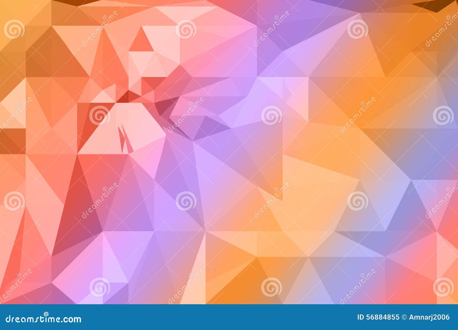 Fondo variopinto del poligono dell arcobaleno