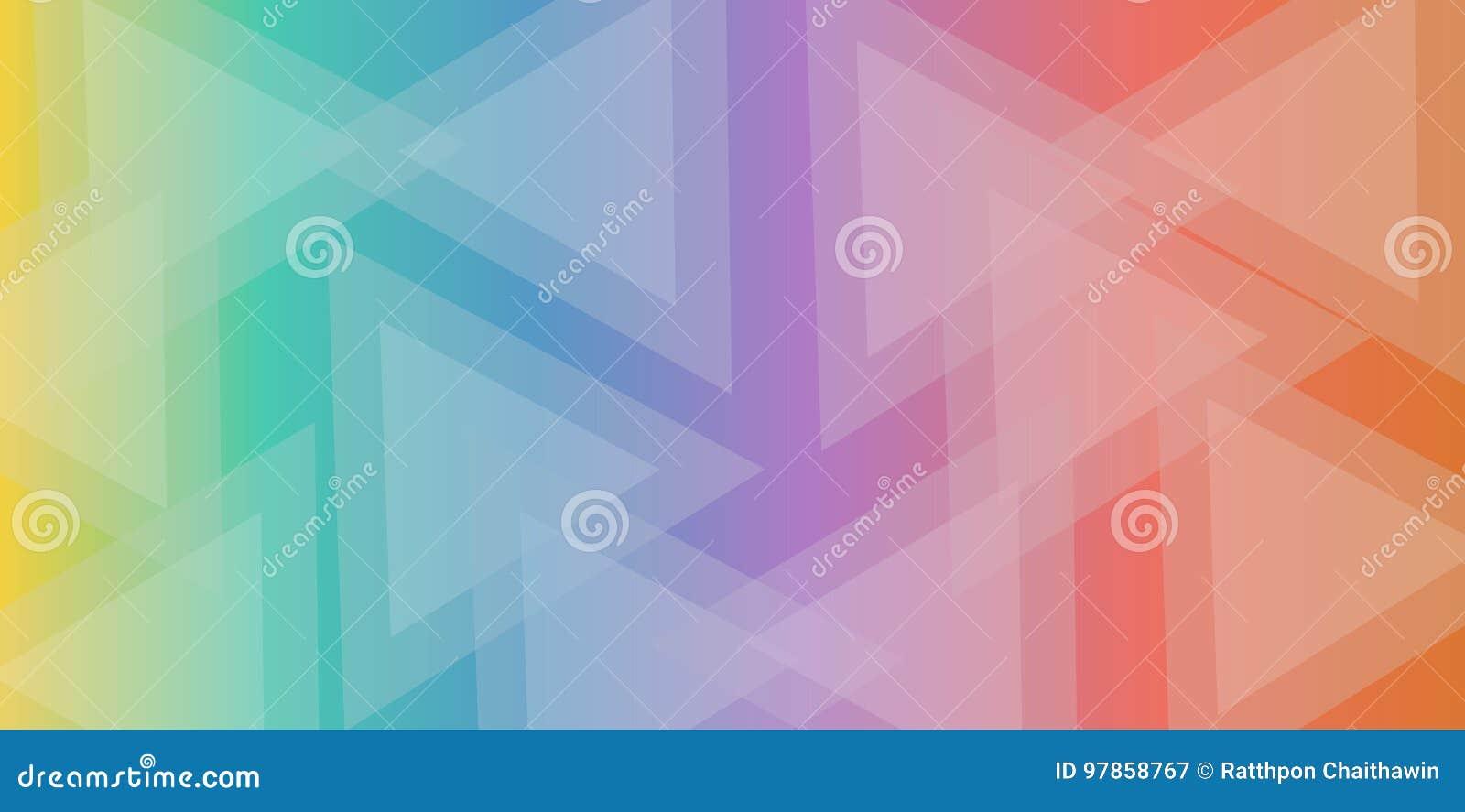 Fondo variopinto dell estratto del triangolo