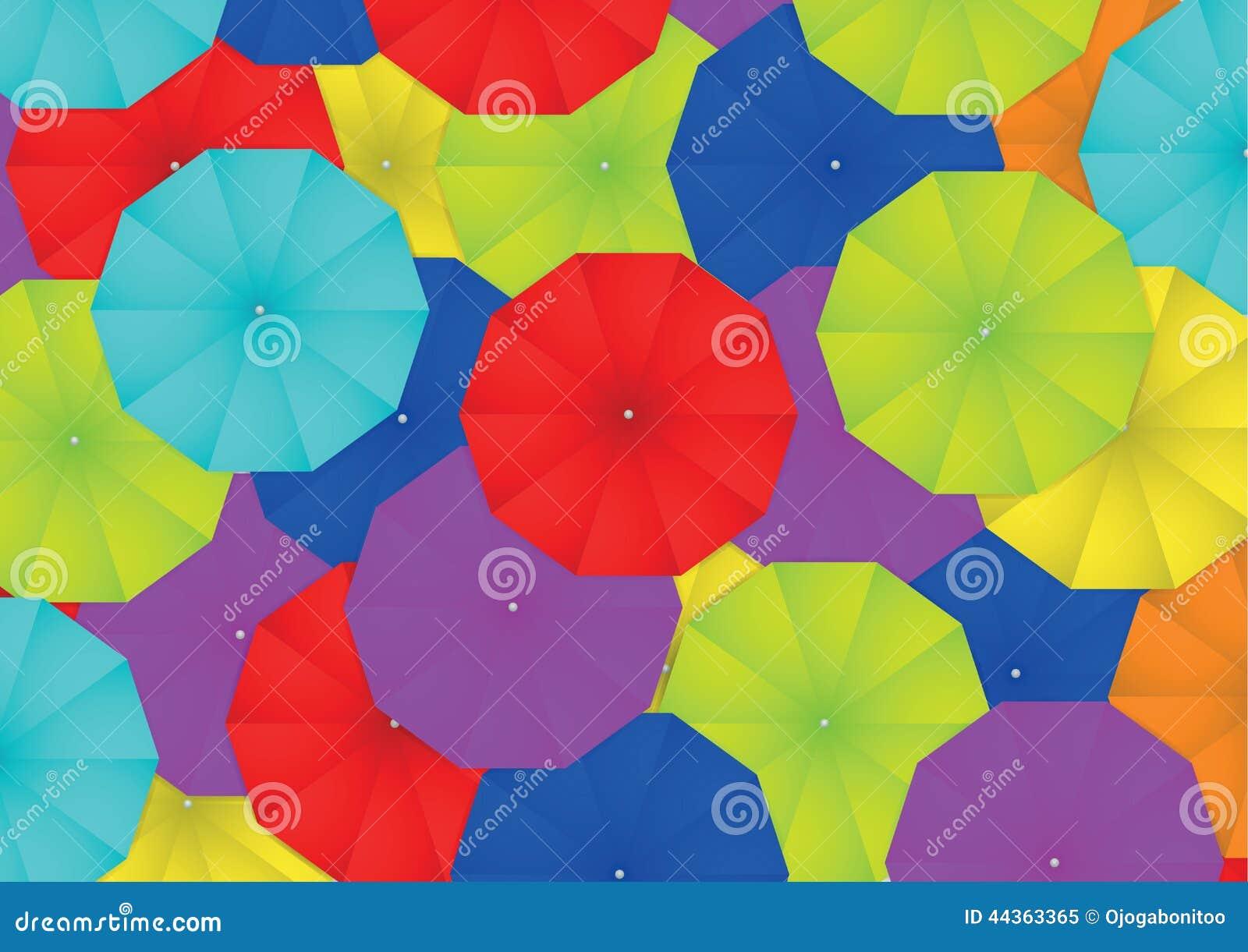 Fondo variopinto dell estratto dell ombrello