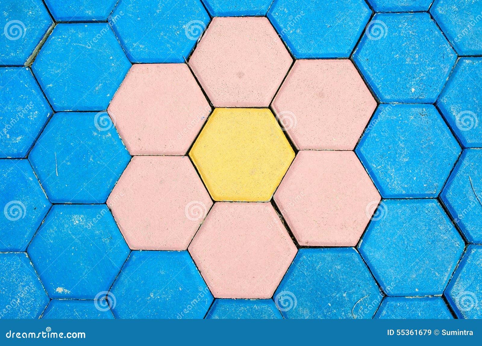 Fondo variopinto di struttura delle mattonelle della decorazione del mattone del pavimento