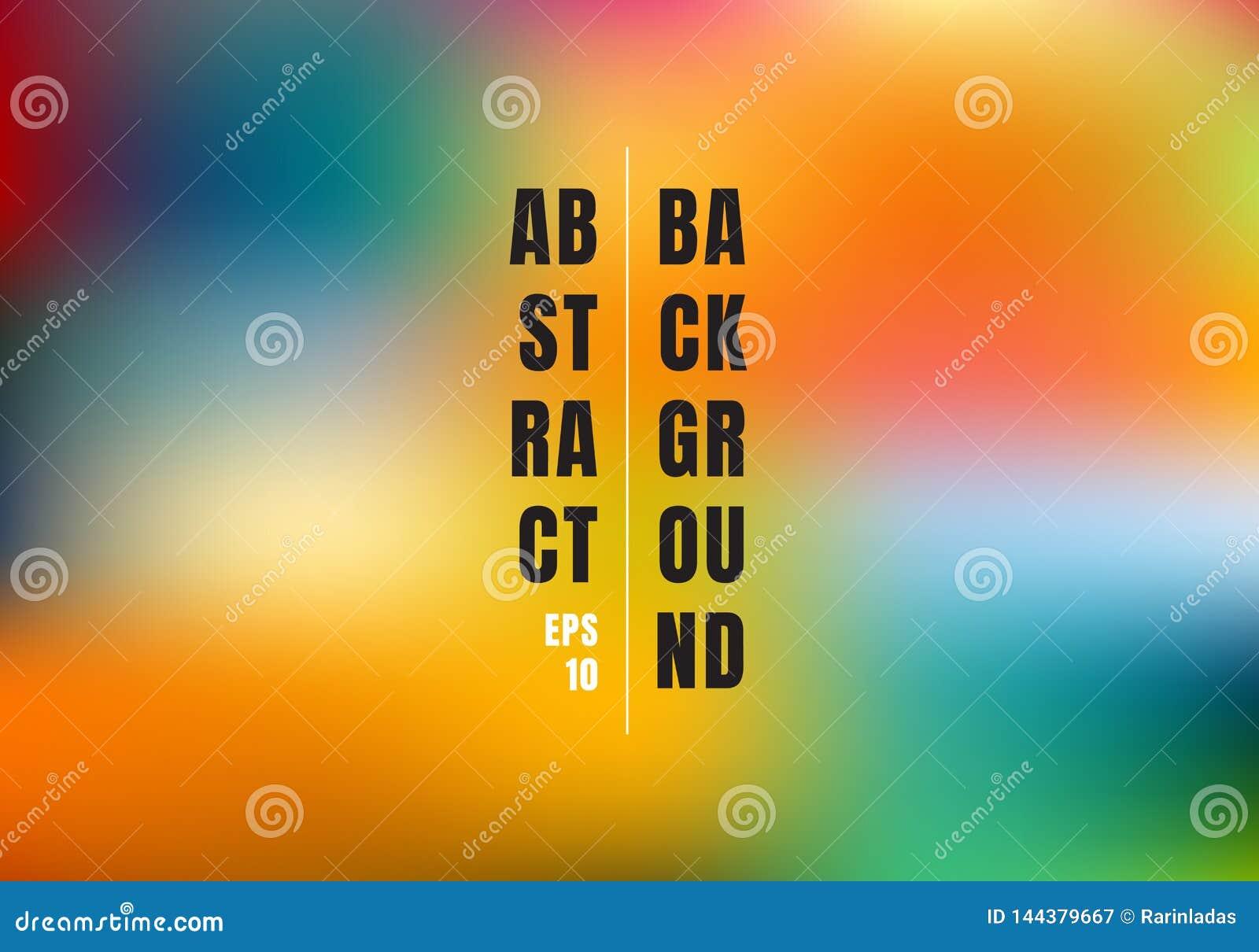 Fondo variopinto vago astratto della maglia di pendenza L arcobaleno luminoso colora l insegna liscia del modello