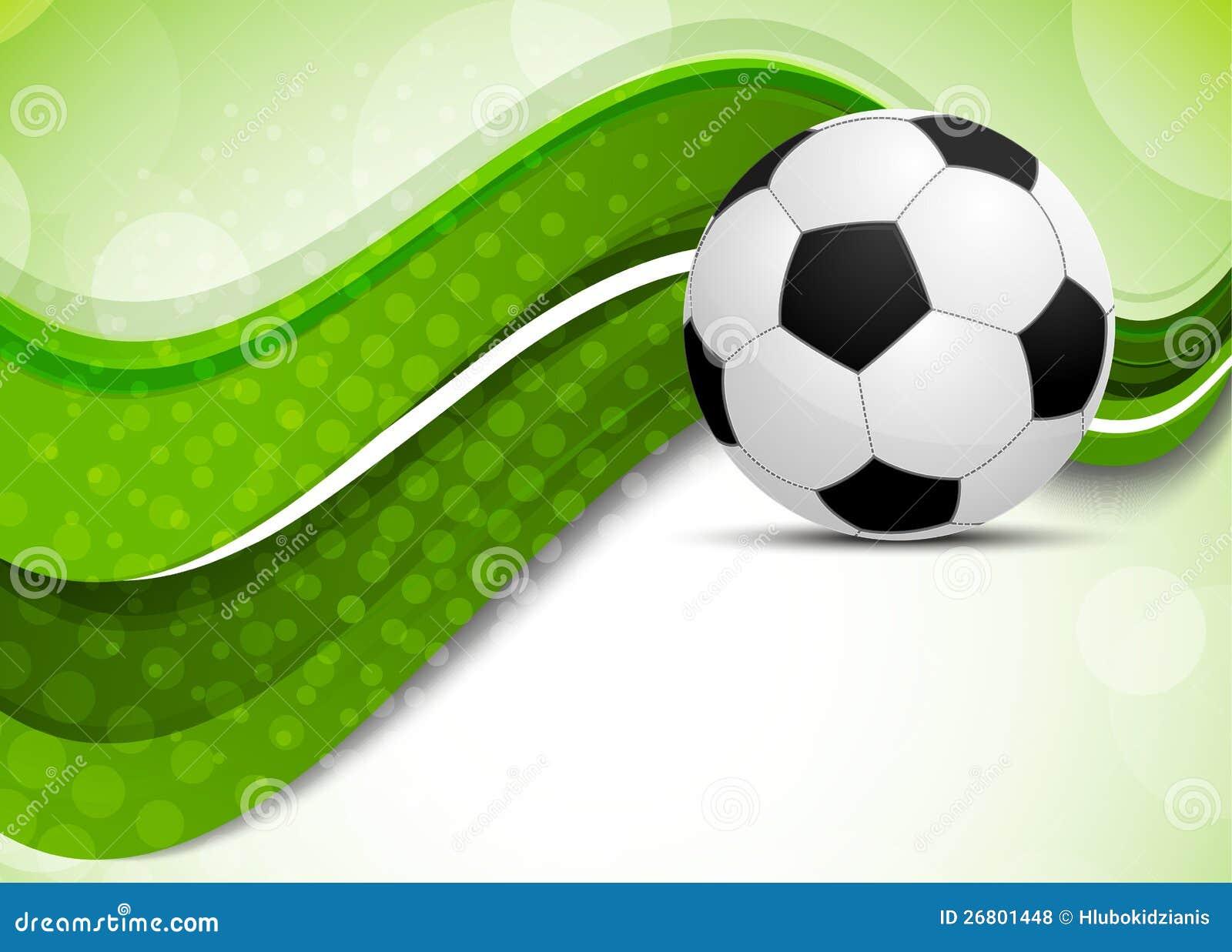 Fondo verde con el bal n de f tbol ilustraci n del vector for Fondos de futbol