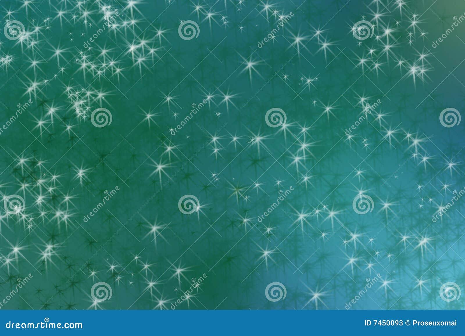Fondo verde de la estrella
