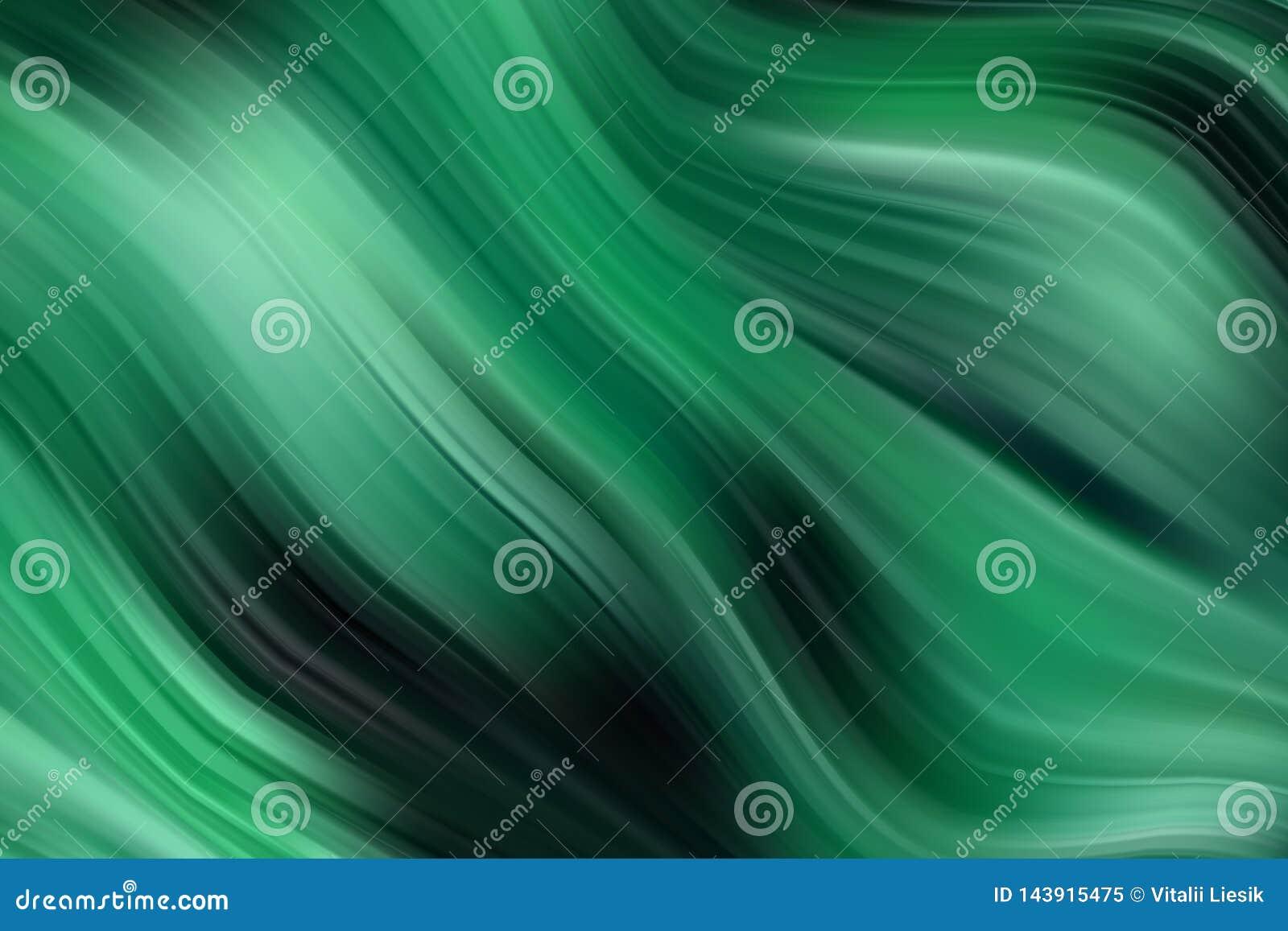Fondo verde de la onda del vector Textura de la pintura al óleo