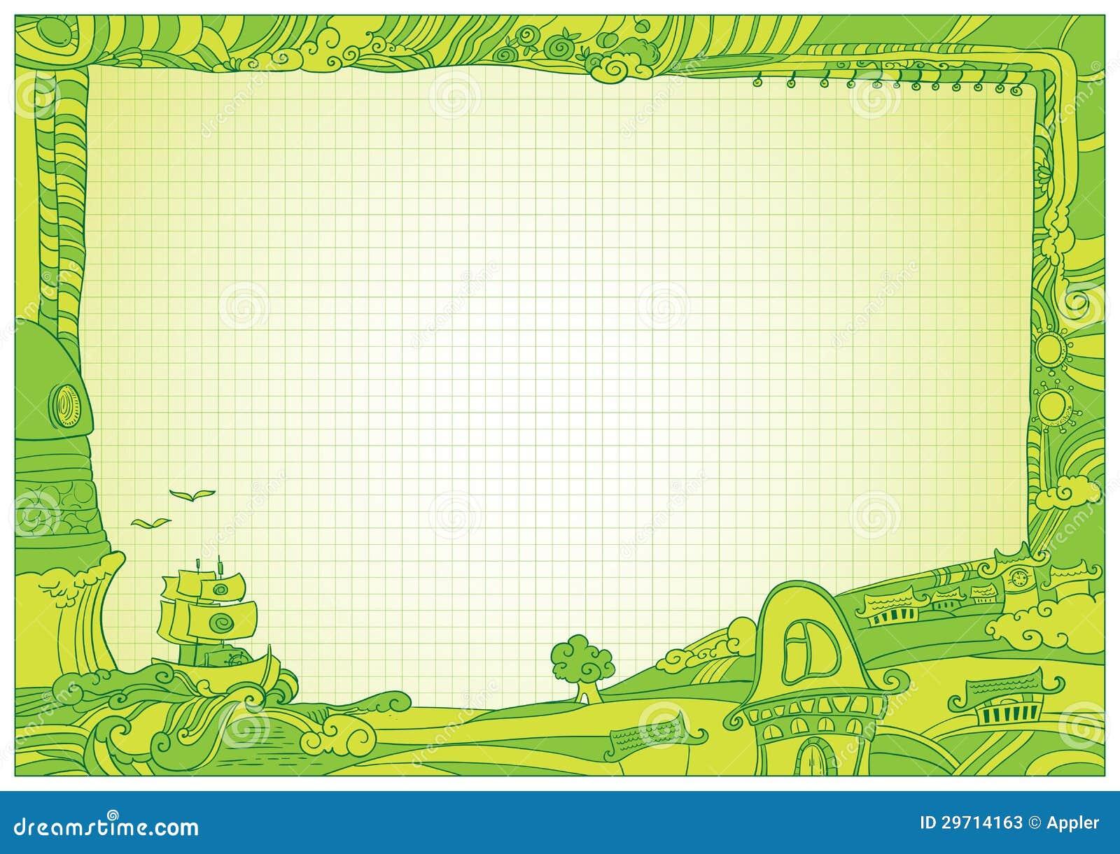 Ejemplo Del Marco Del Diploma Del Estilo Del Doodle Stock de ...