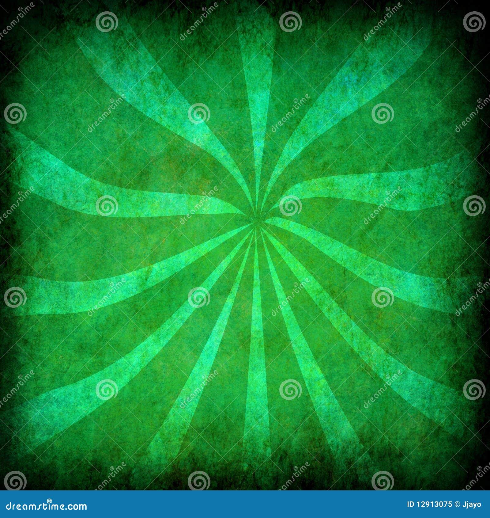 Fondo verde del grunge de la vendimia con los rayos del for Fondo del sol