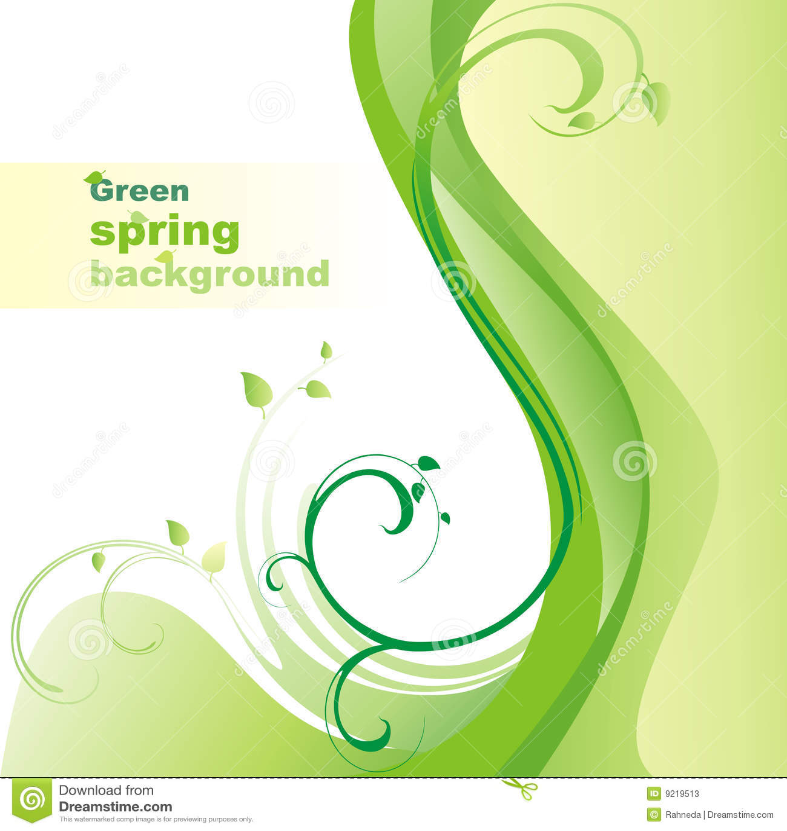 Fondo verde del resorte.