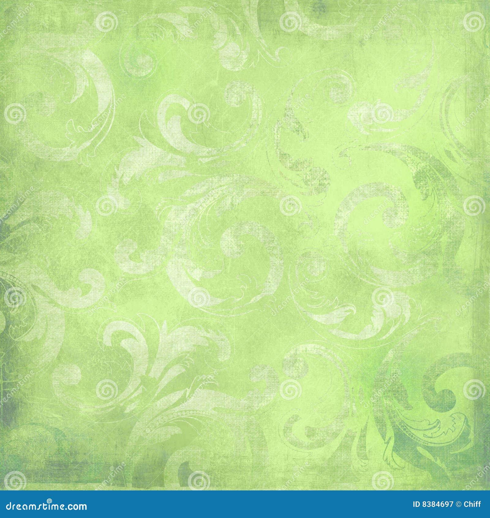 Fondo verde del victorian con el espacio para el texto o