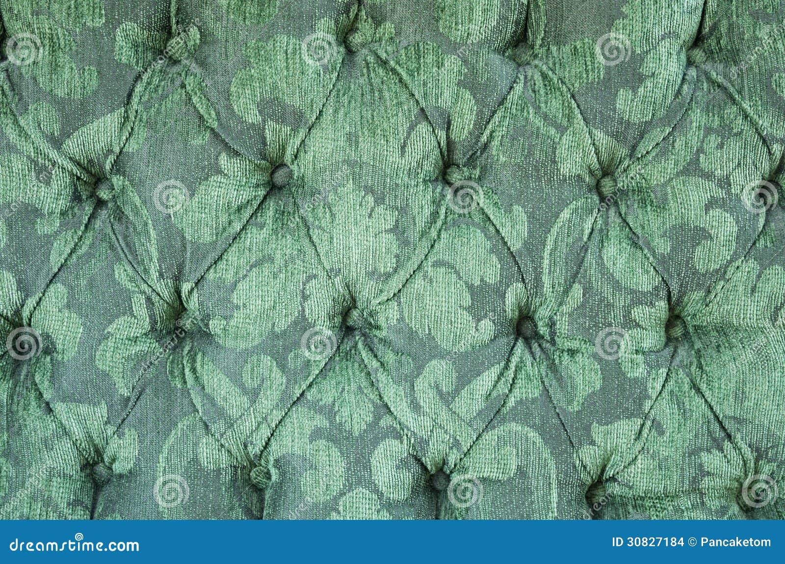 Fondo verde della tappezzeria