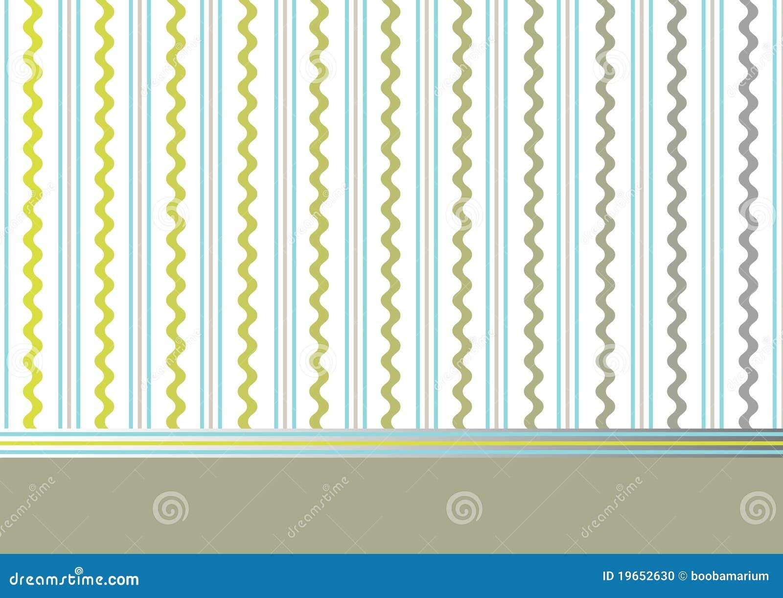 Fondo verde oliva decorativo con las rayas y las ondas - Papel de pared de rayas ...