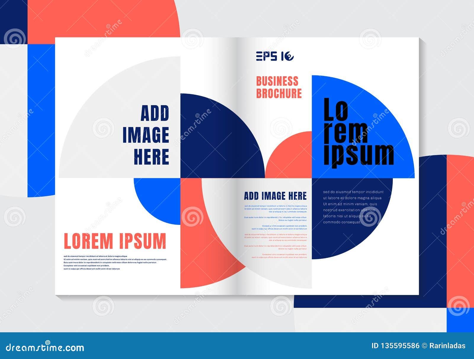 Fondo vivo geométrico del elemento del círculo de color de la plantilla del diseño del folleto