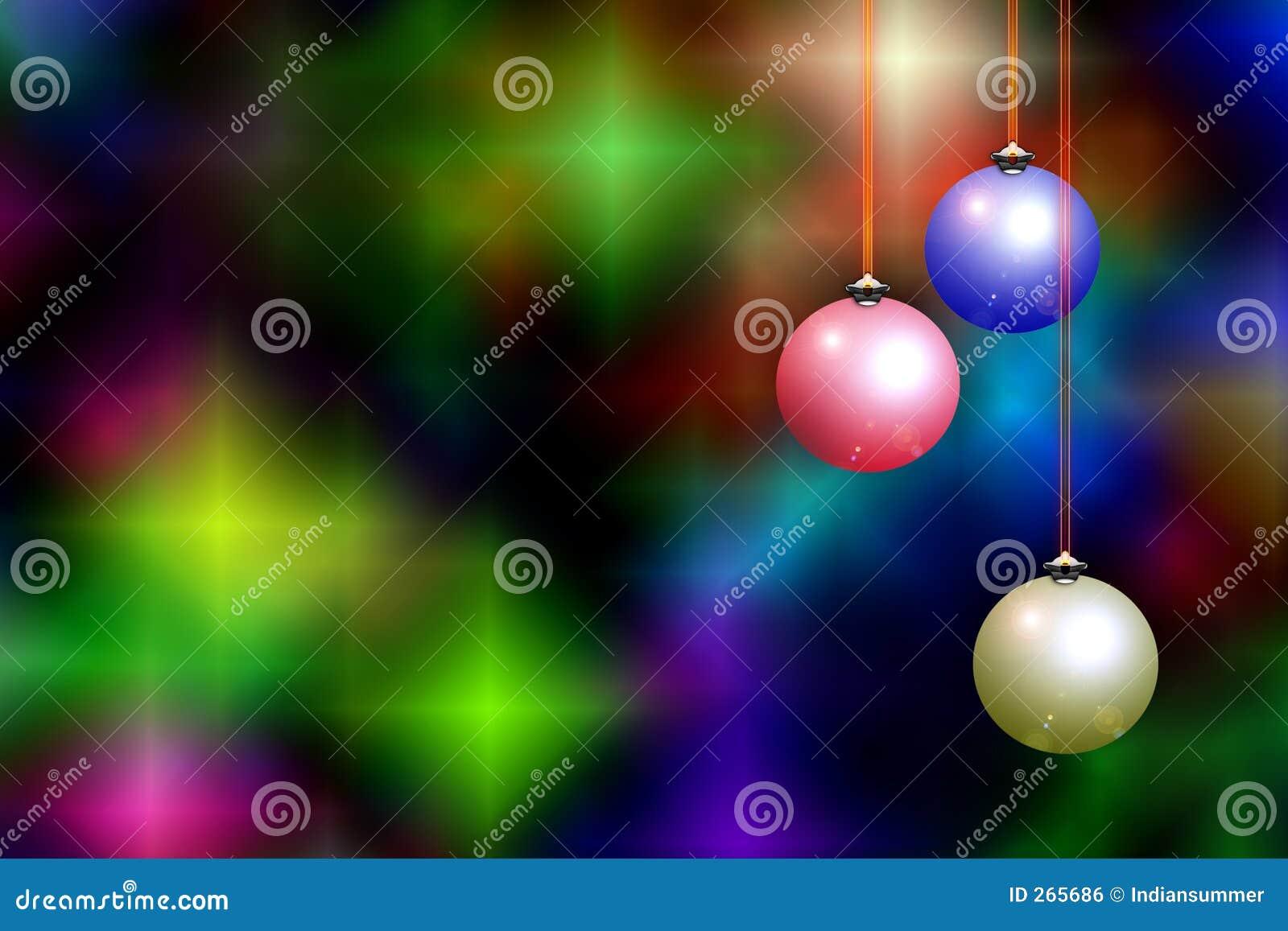 Fondo y decoraciones de la Navidad