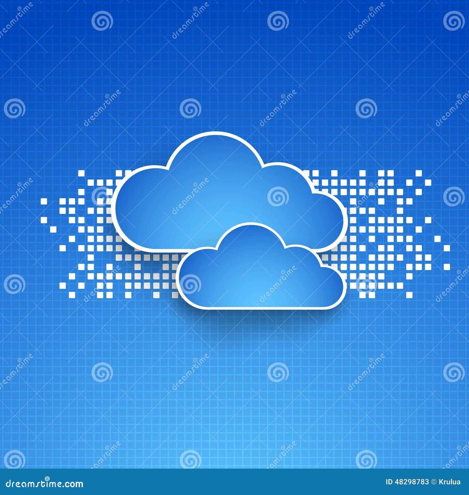 Fondos abstractos del tema de la nube de la tecnología