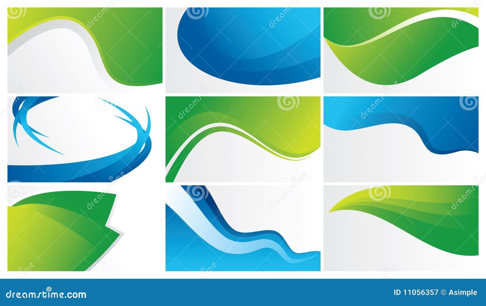 Fondos Abstractos Verdes Y Azules Fotografía De Archivo