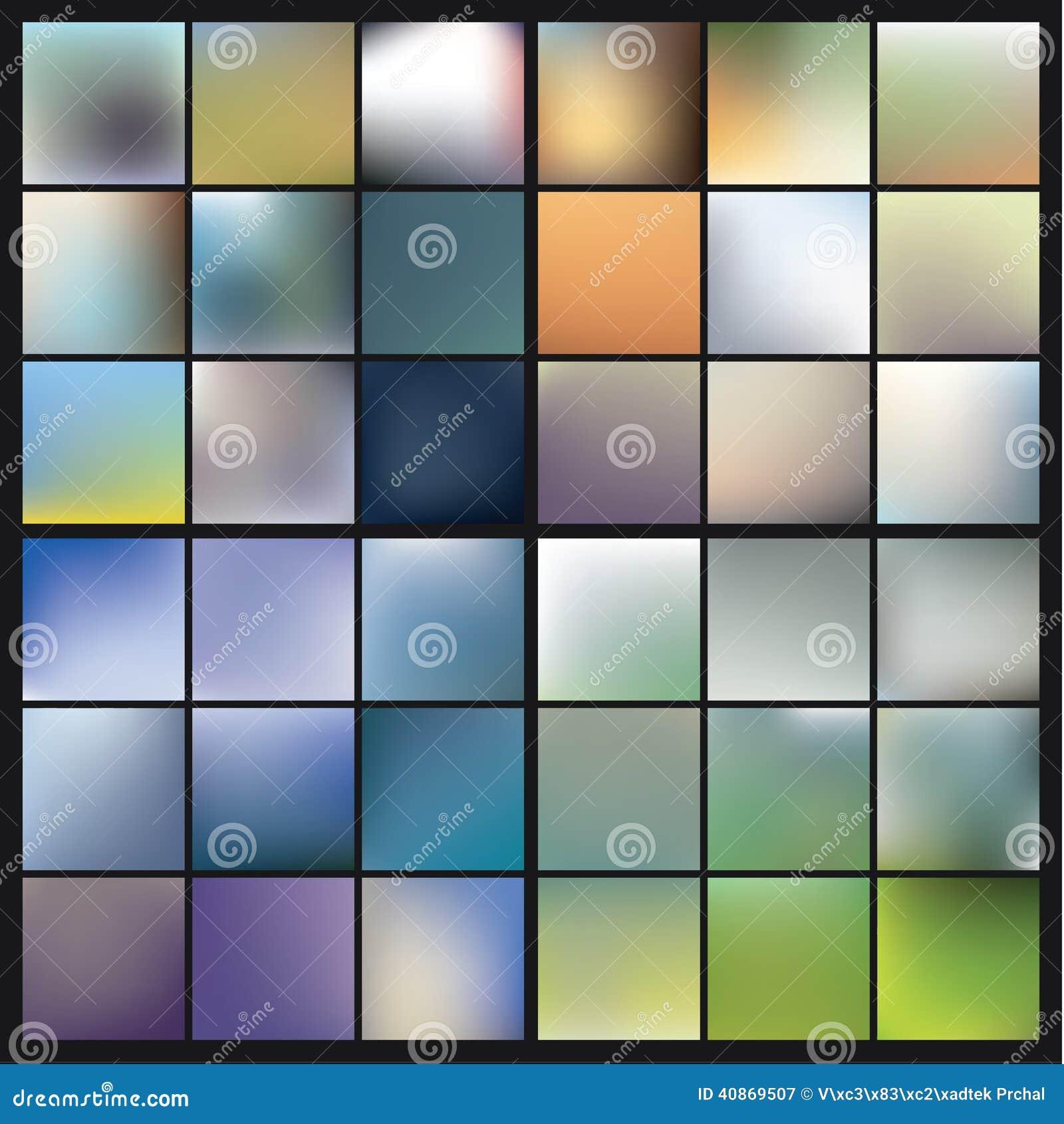 Fondos colorido borrosos del vector