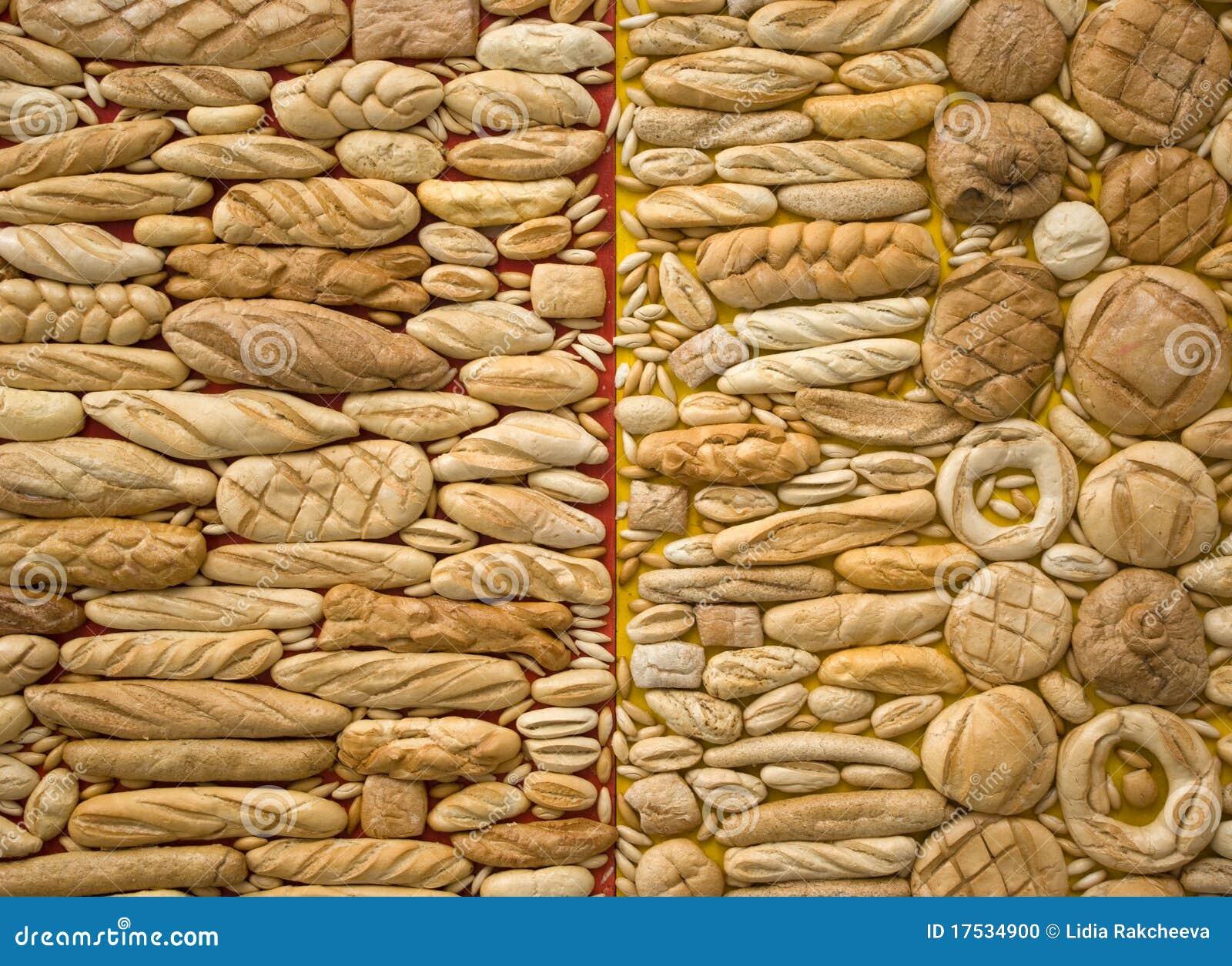 Fondos del pan y de las panaderías, fragmento de la instalación del ...