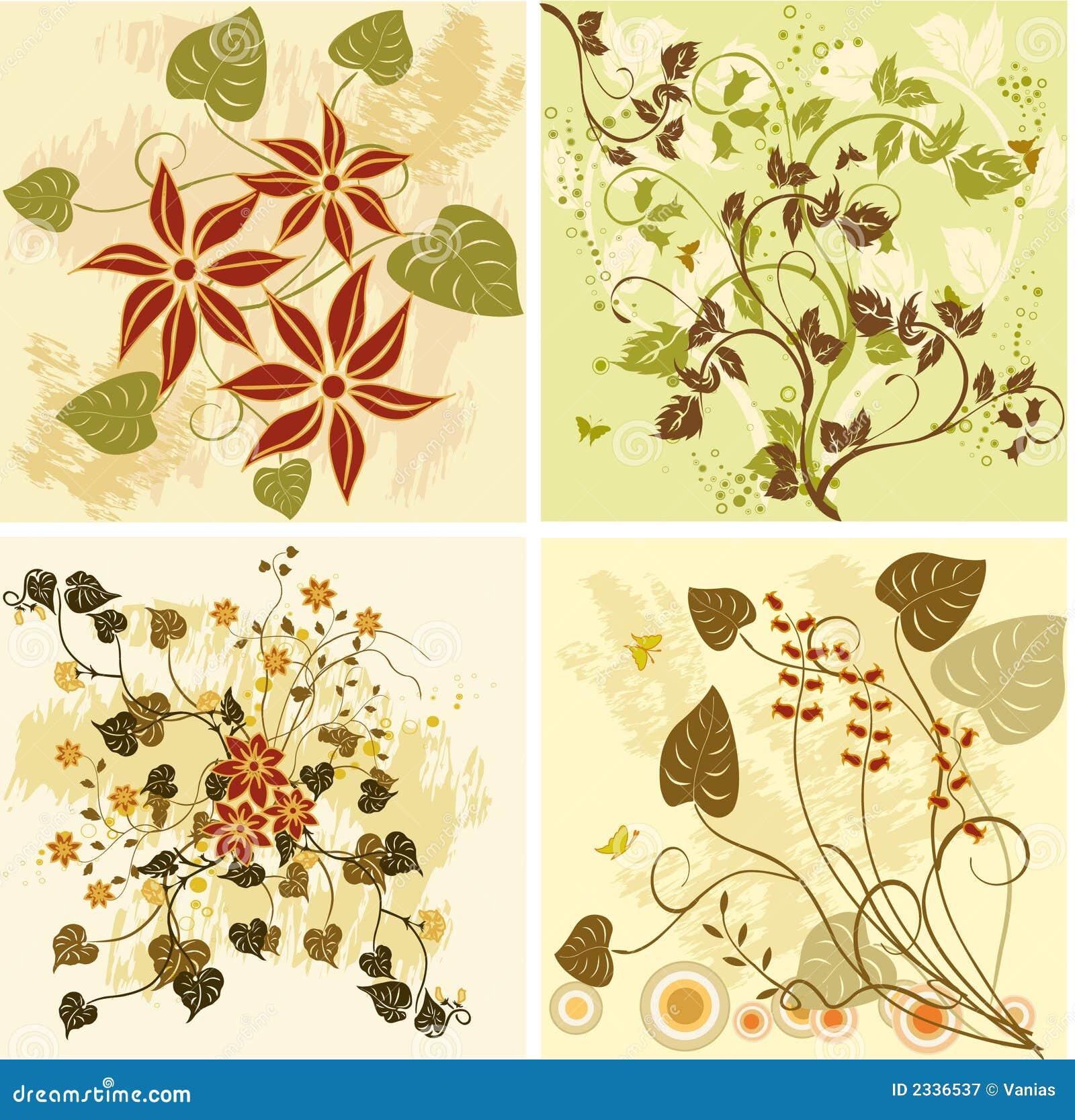 Fondos florales - vector