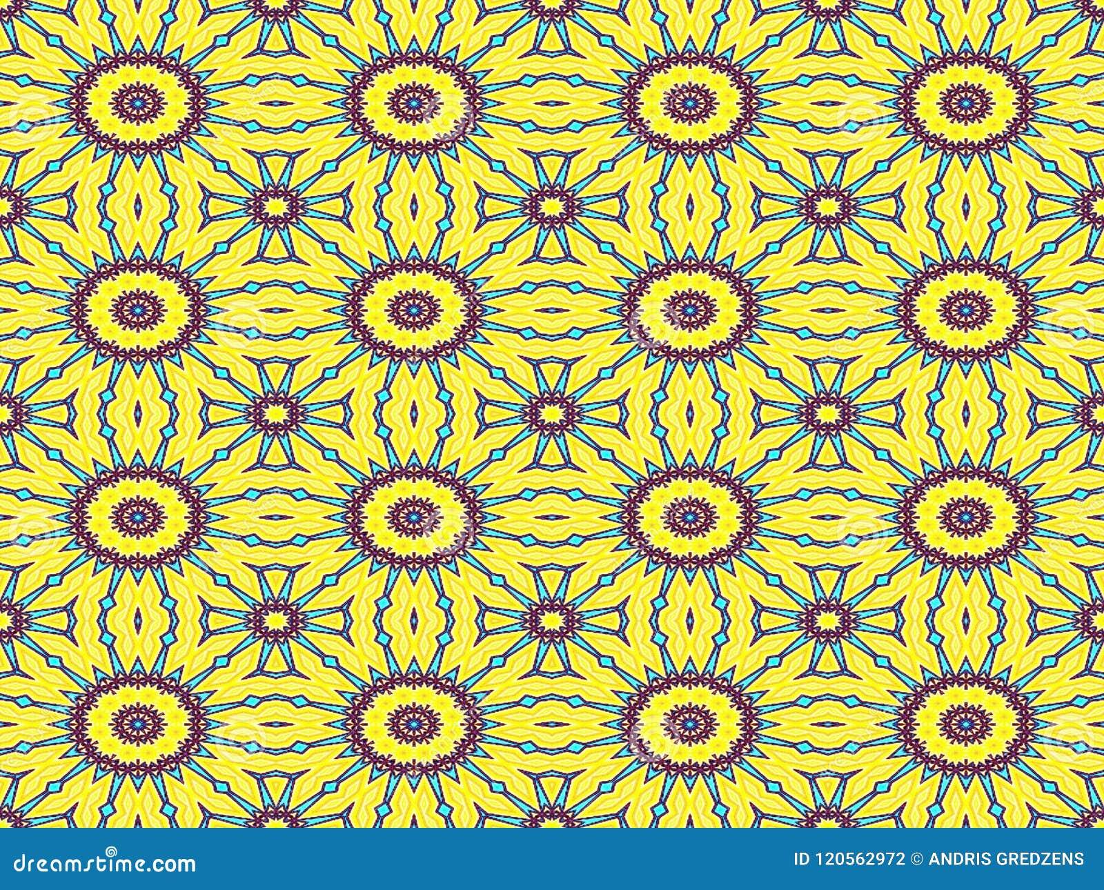 Fondos inconsútiles abstractos amarillos del modelo