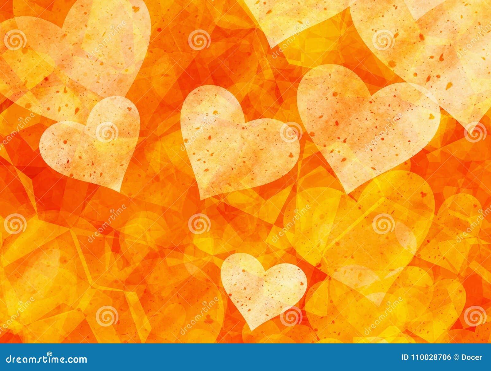Fondos pintados de los corazones