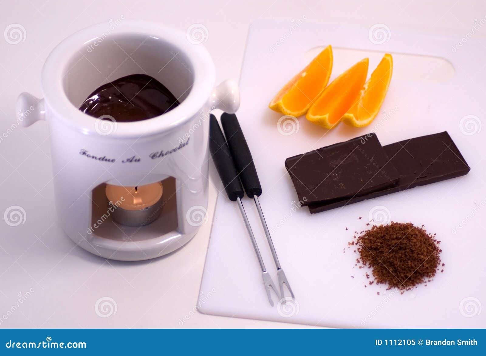 Fondue czekoladowe pomarańcze