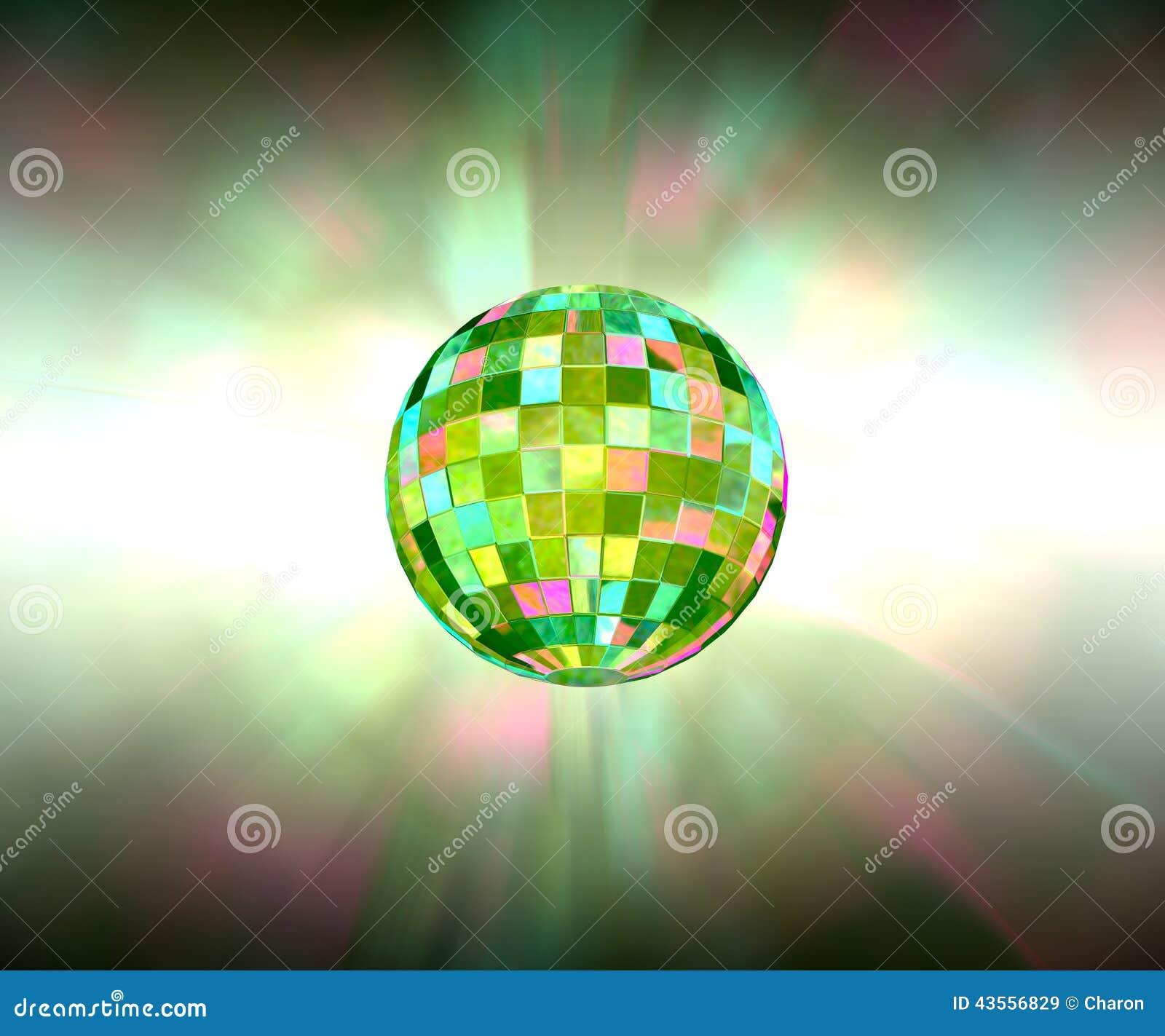 Fonkelende lichte de partijachtergrond van de discobal