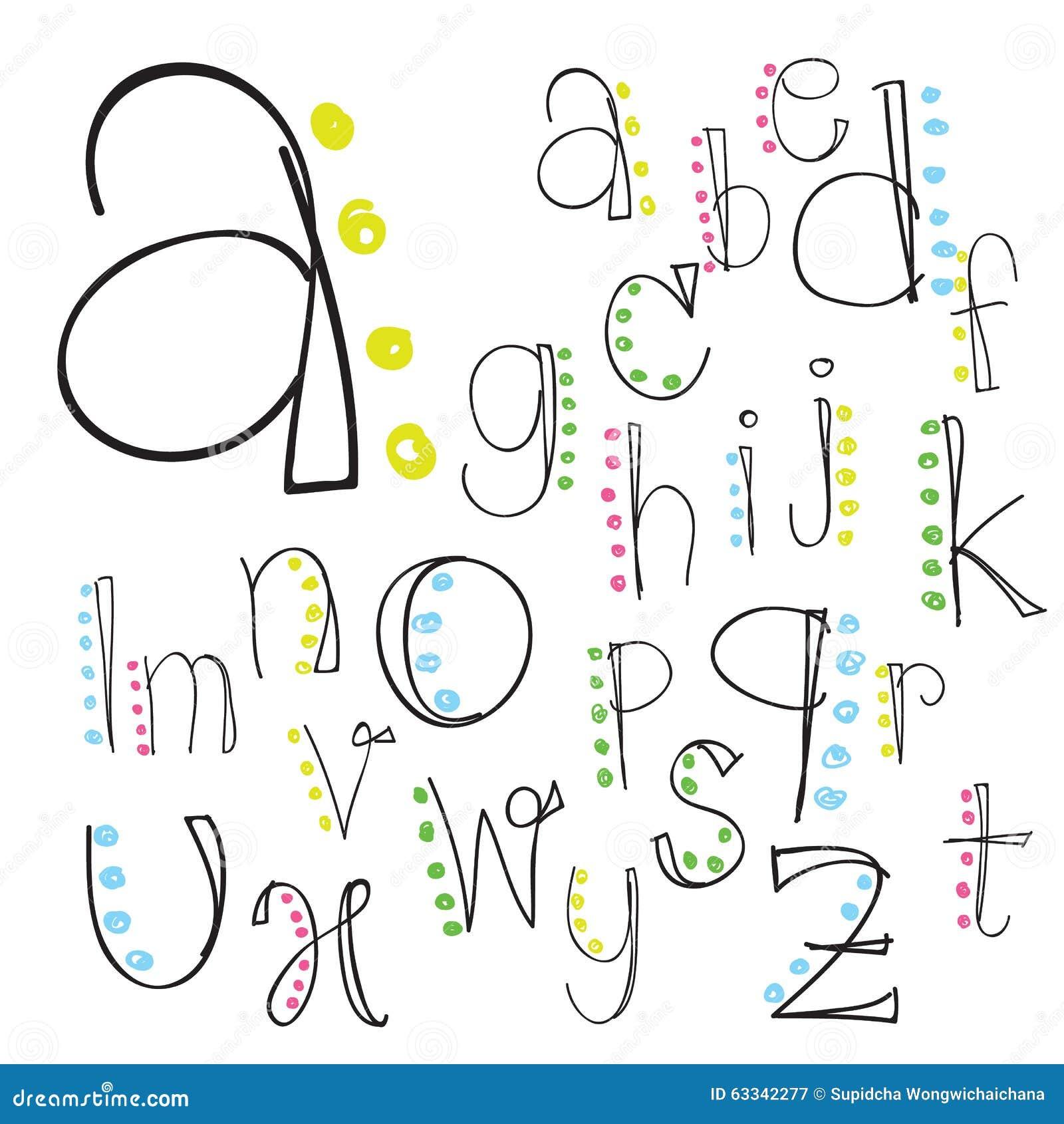 Font Alphabet Letter Lettering Script Vector Hand Brush