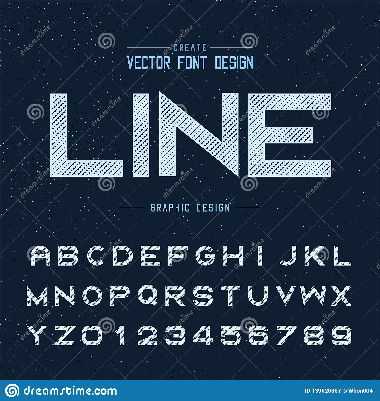 Line Dotted Font And Alphabet Vector, Bold Typeface Letter ...