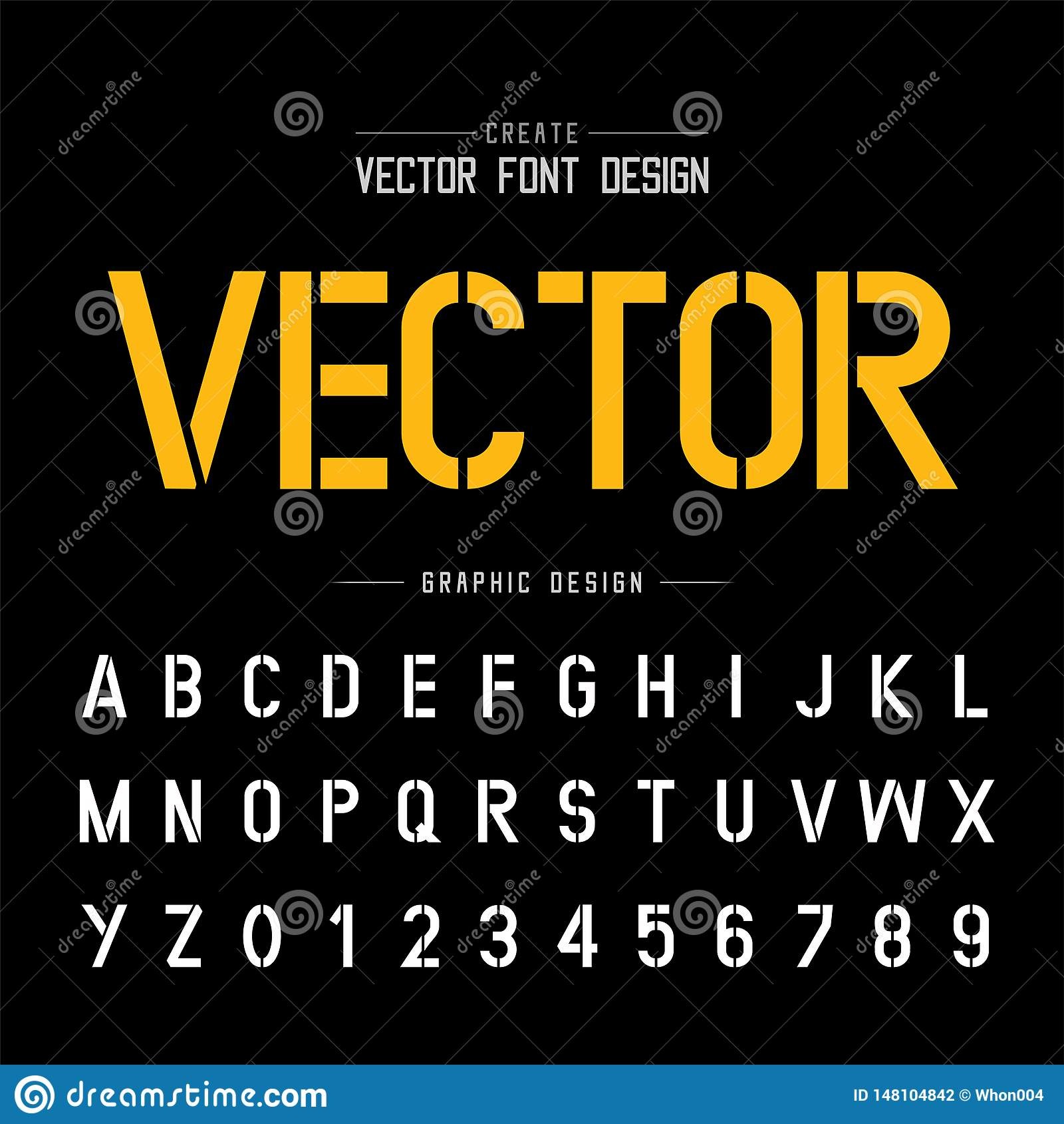 Tech Font And Alphabet Vector  Technology Style Typeface