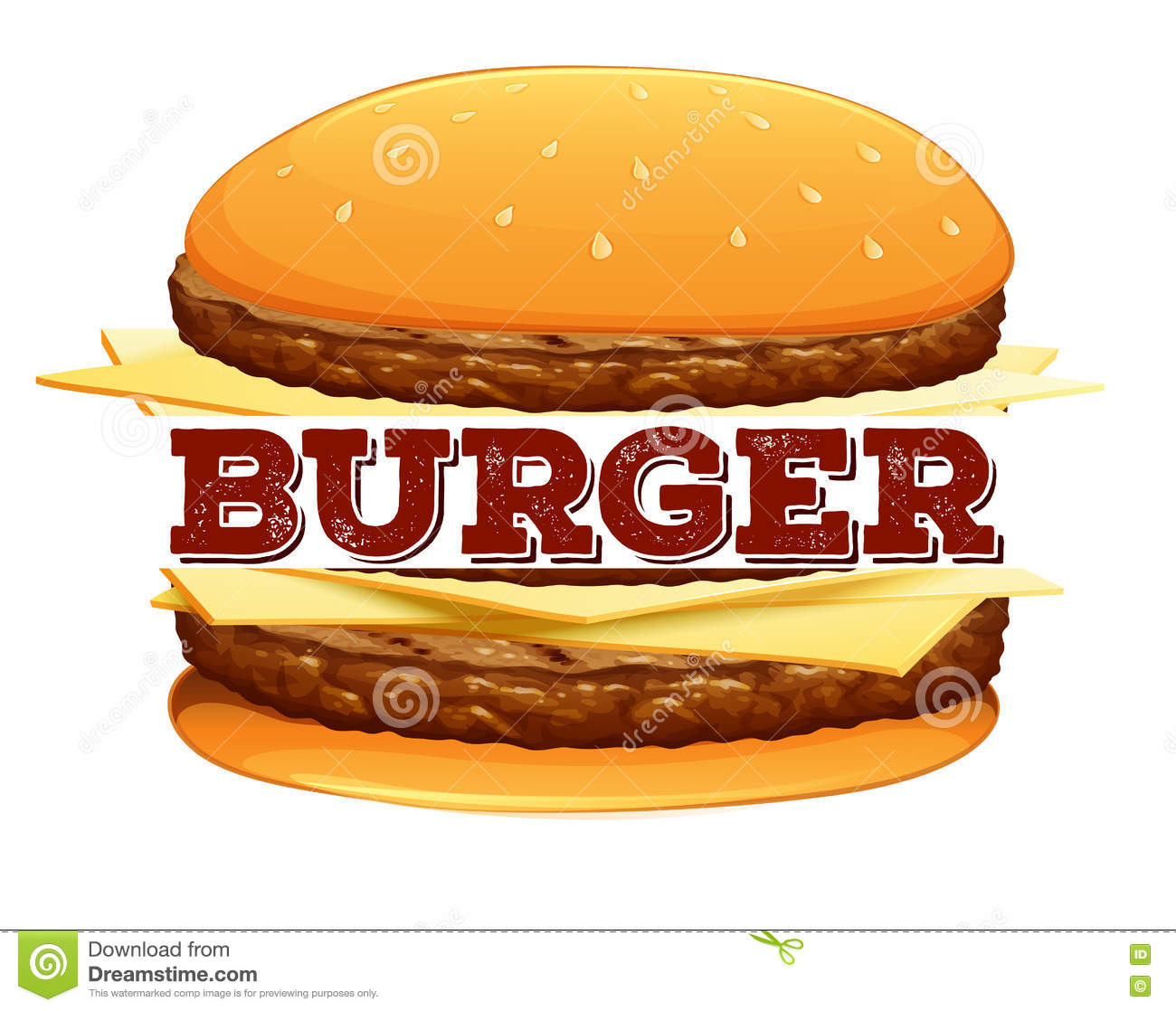 font design for word burger stock illustration