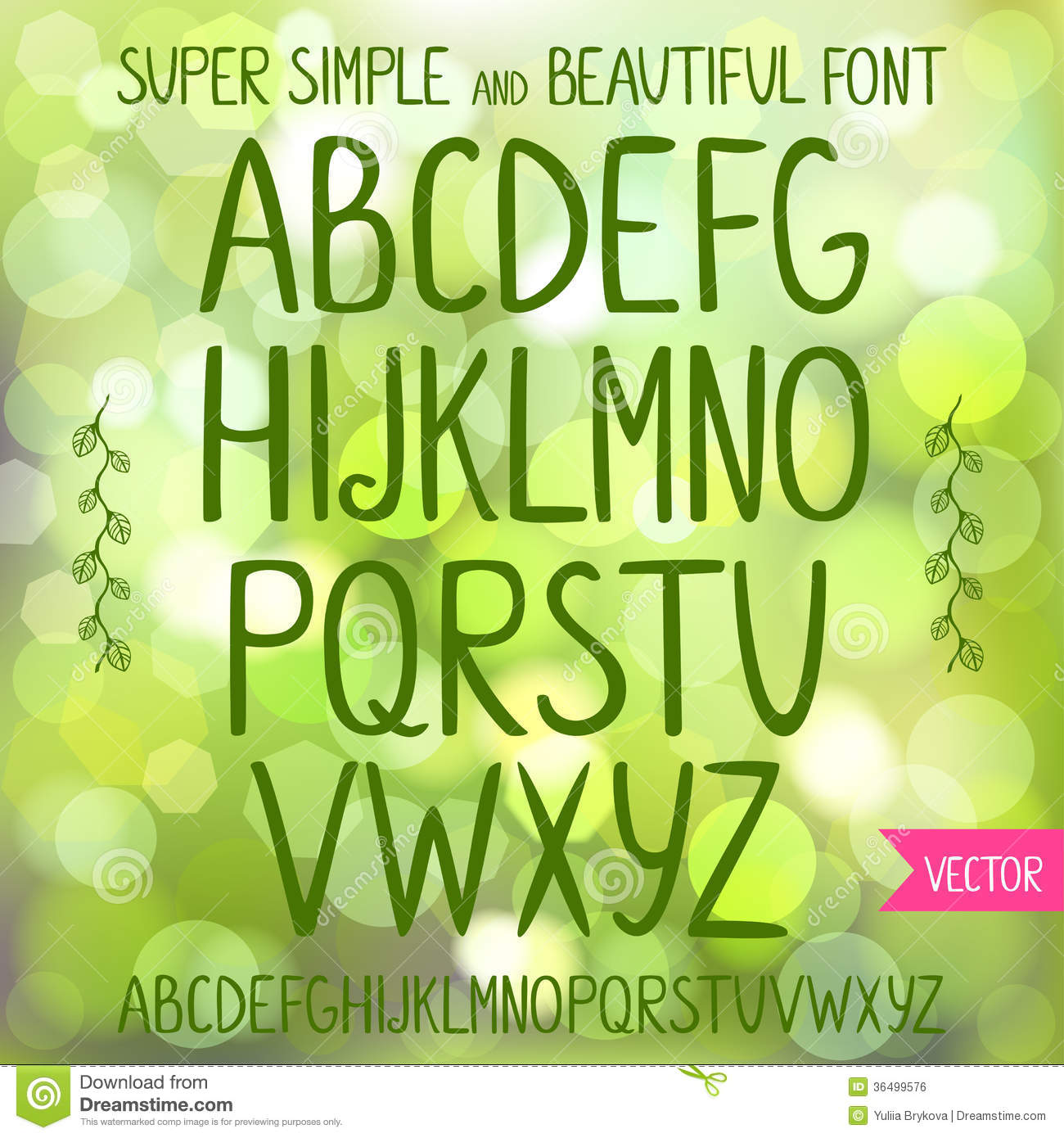 Font stock vector illustration of design calligraphy for Simple and beautiful