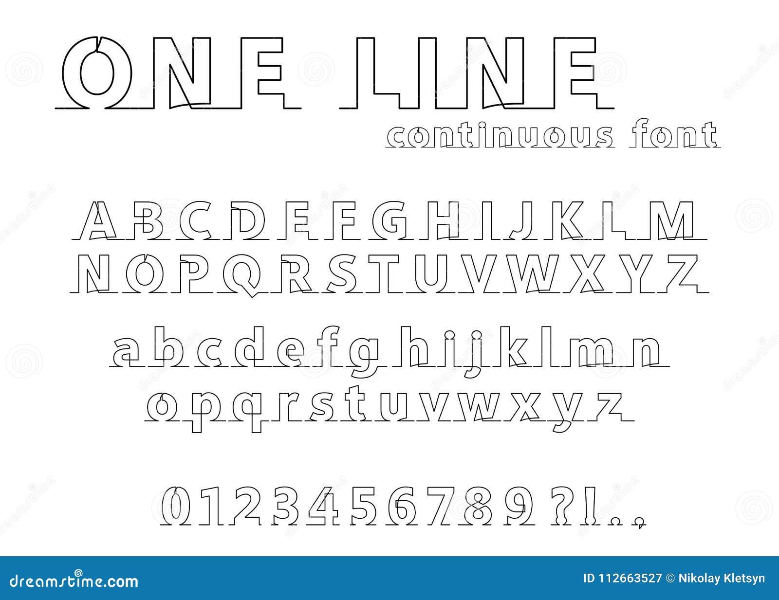 Single fonts free line FREE Single