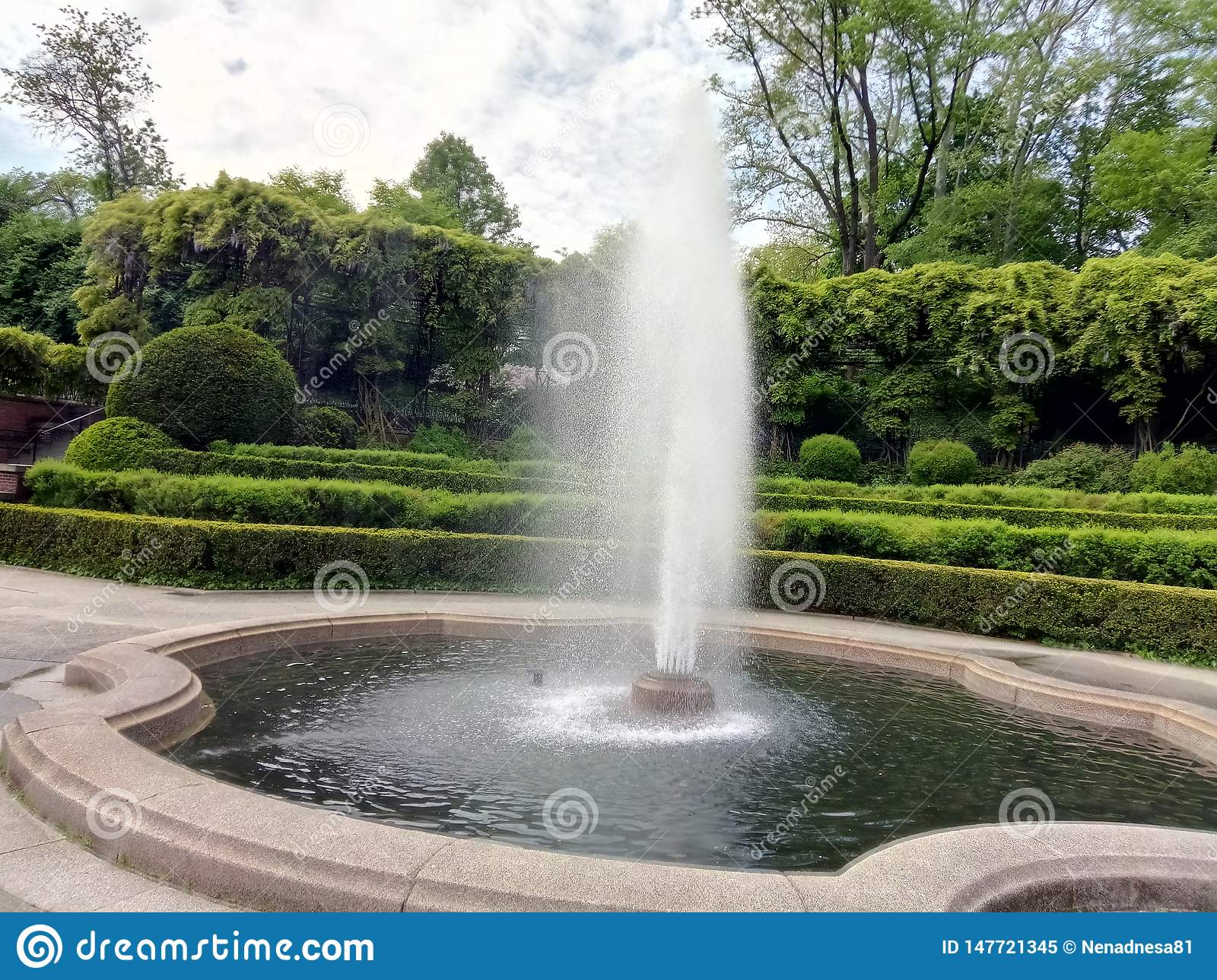 Fontain in Central Park, New York