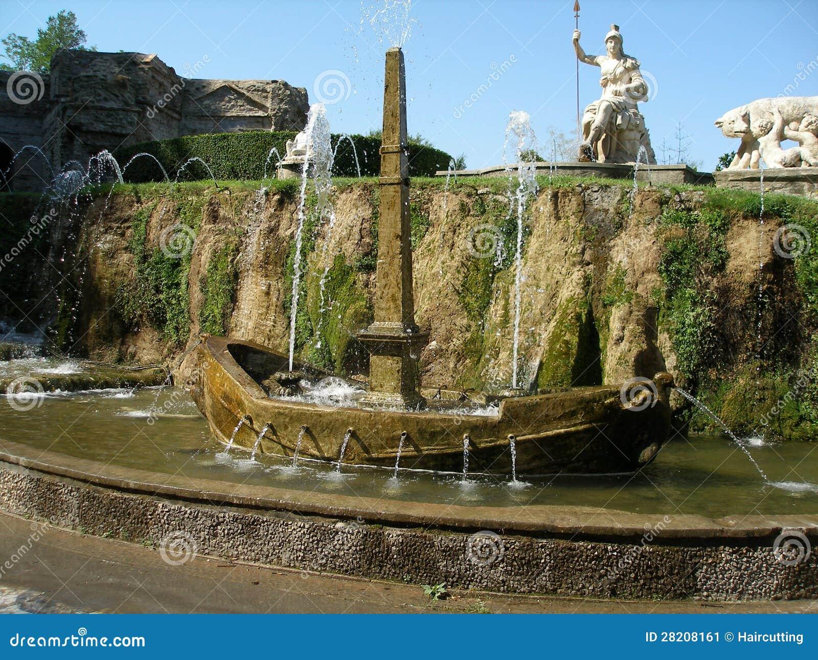 Fontaine Dans Le Jardin Au D Este De Villa