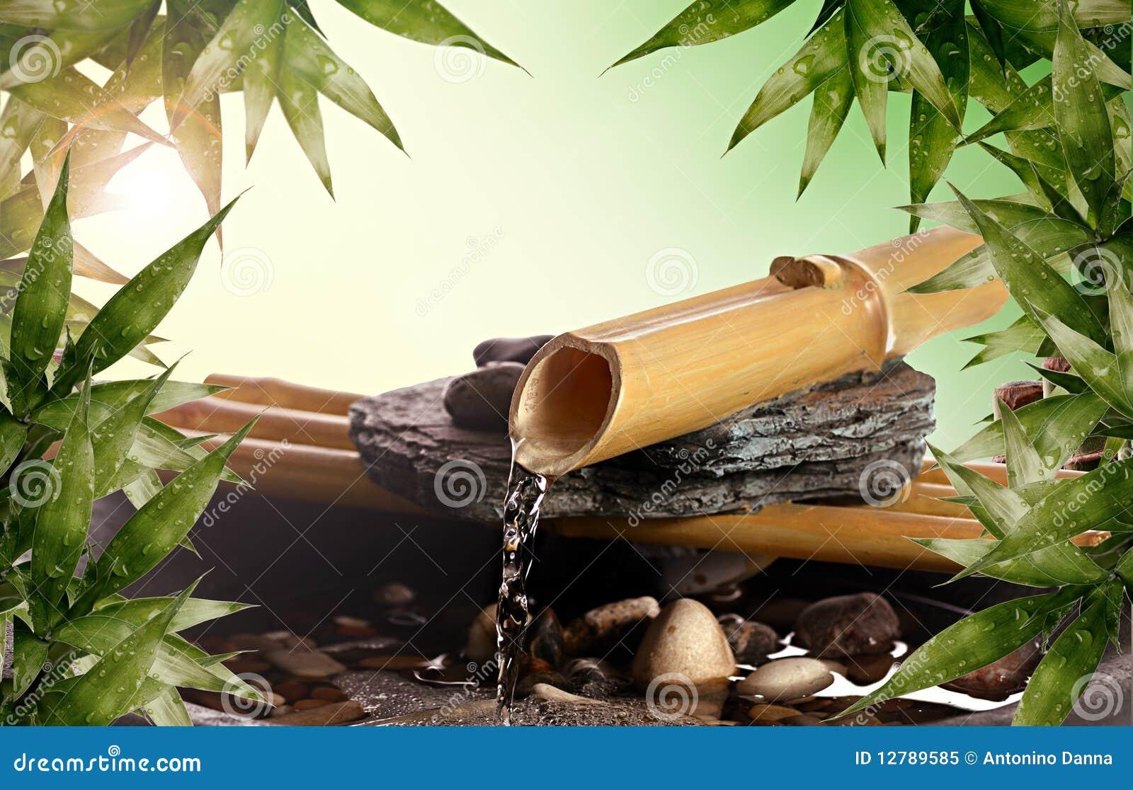 Fontaine de bambou de zen photo libre de droits image - Fontaine zen d interieur nature et decouverte ...